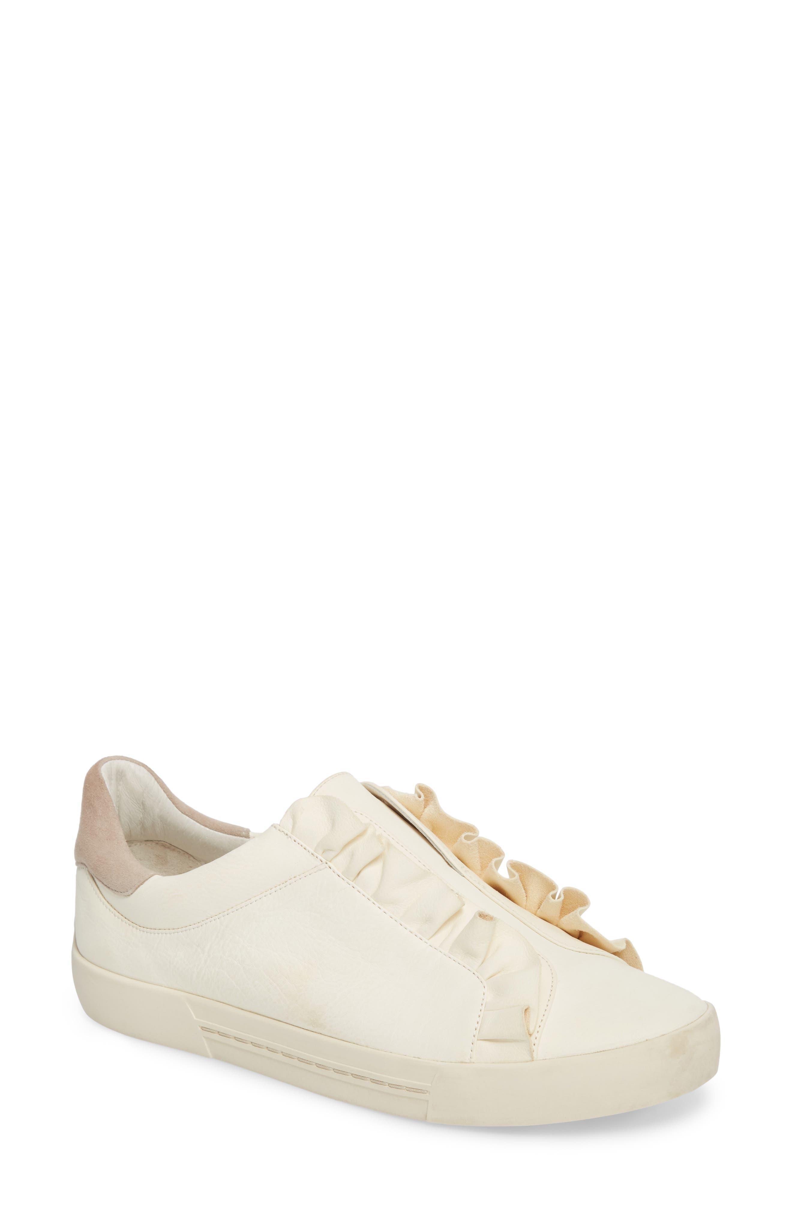 Daw Ruffle Slip-On Sneaker,                             Main thumbnail 1, color,                             900