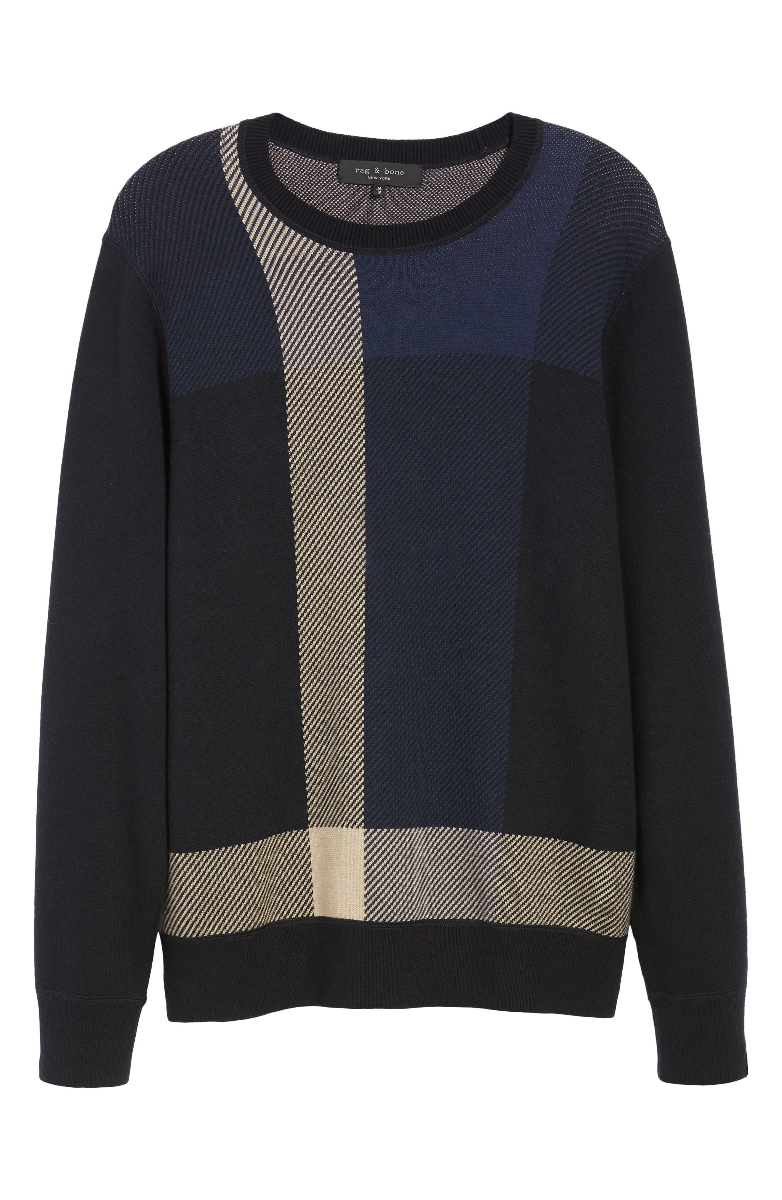 Marshall Crewneck Sweater,                             Alternate thumbnail 6, color,                             NAVY