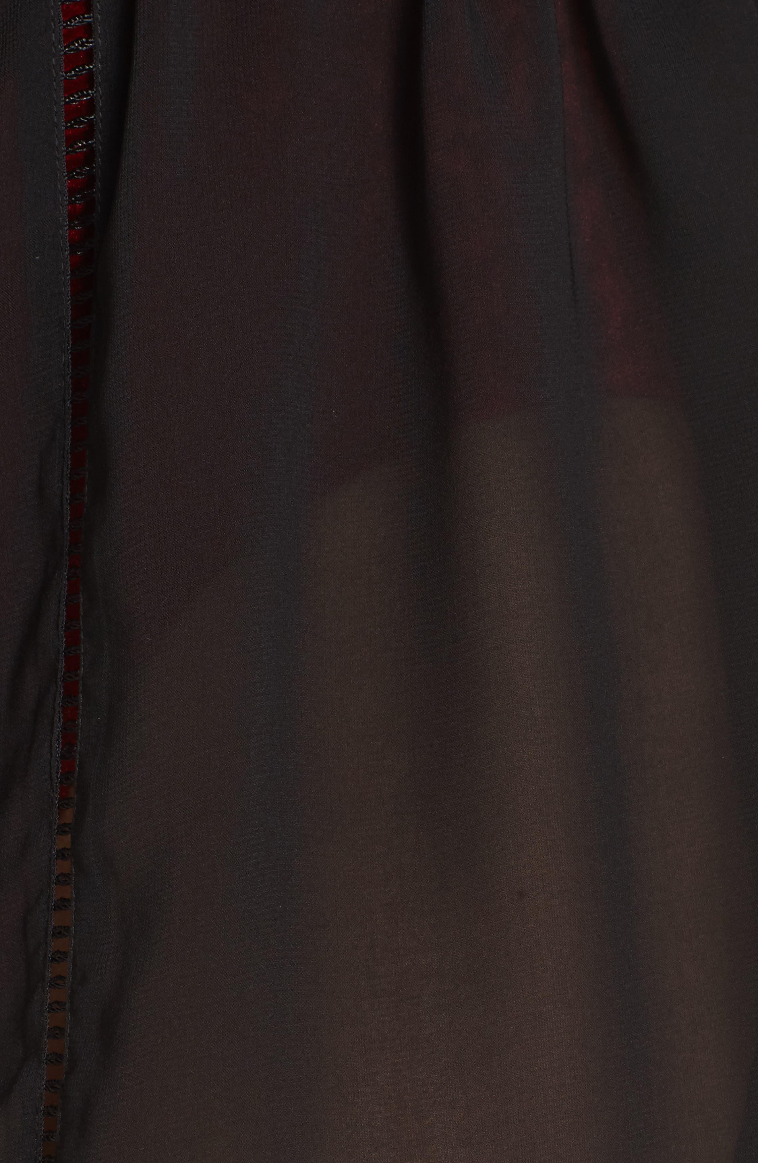 Side Slit Kimono Cover-Up,                             Alternate thumbnail 5, color,                             001