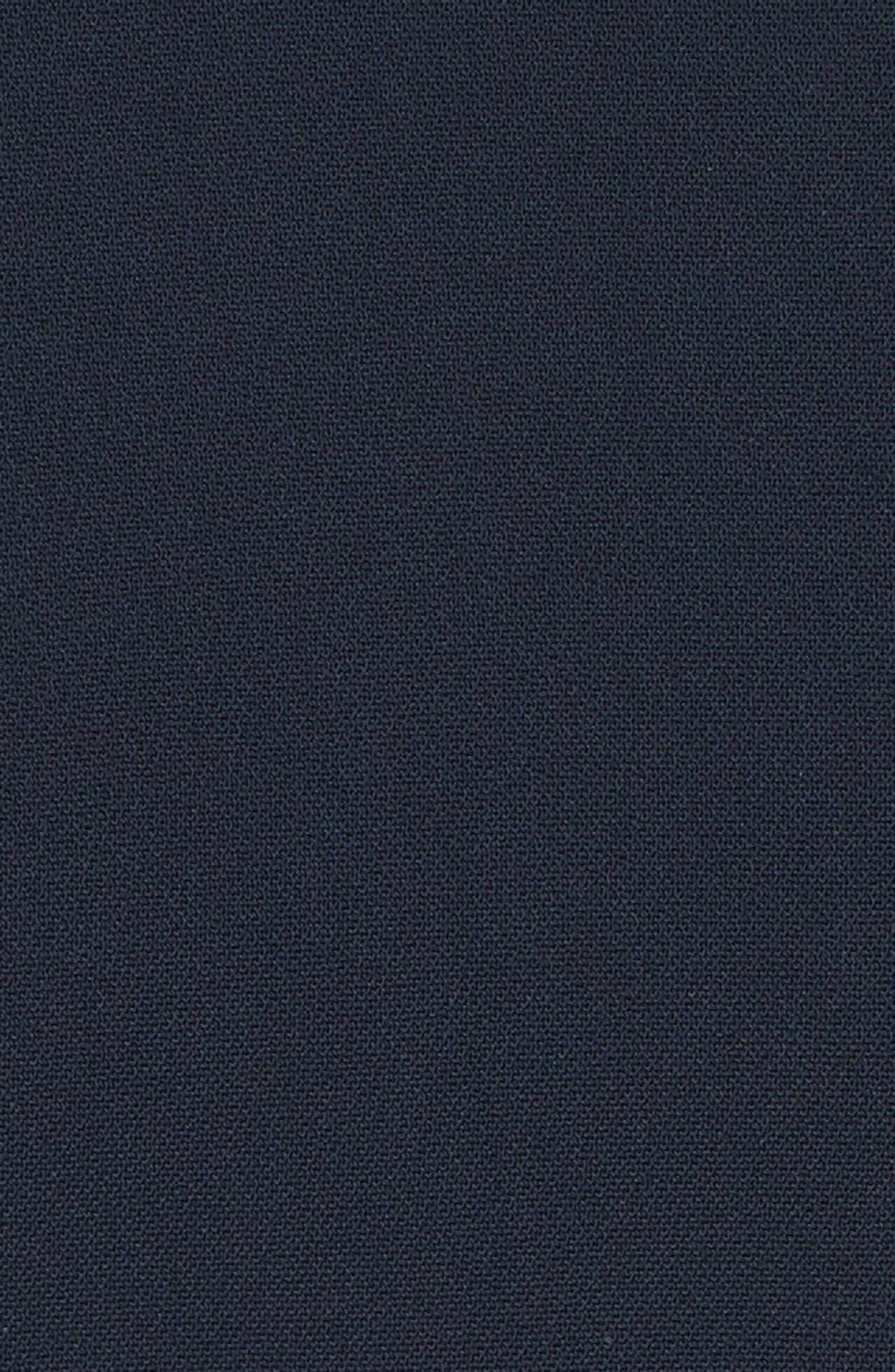 CUSHNIE,                             Georgette Billowing Sleeve Top,                             Alternate thumbnail 6, color,                             STORM