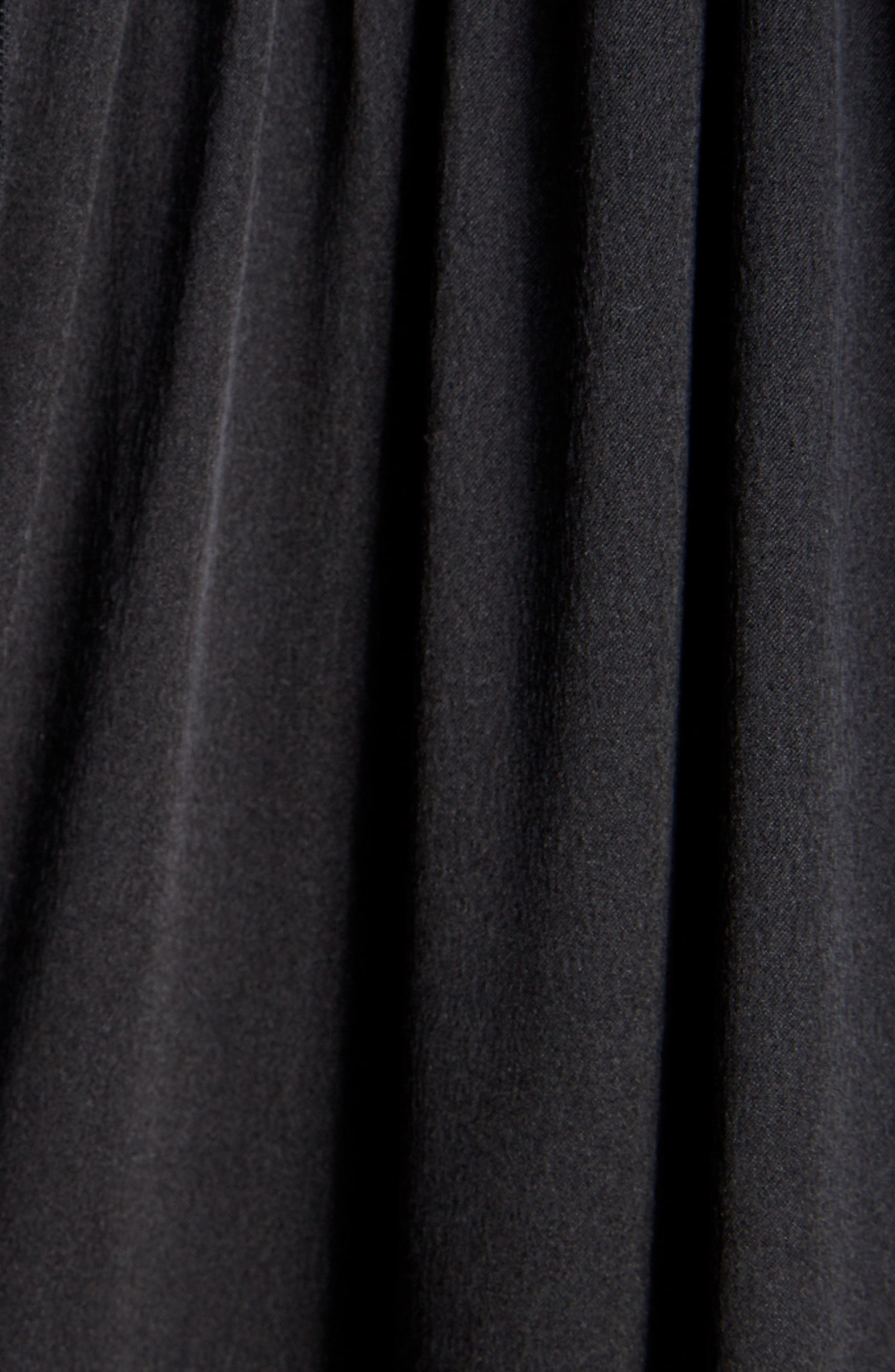 Frill Patchwork Dress,                             Alternate thumbnail 5, color,                             001