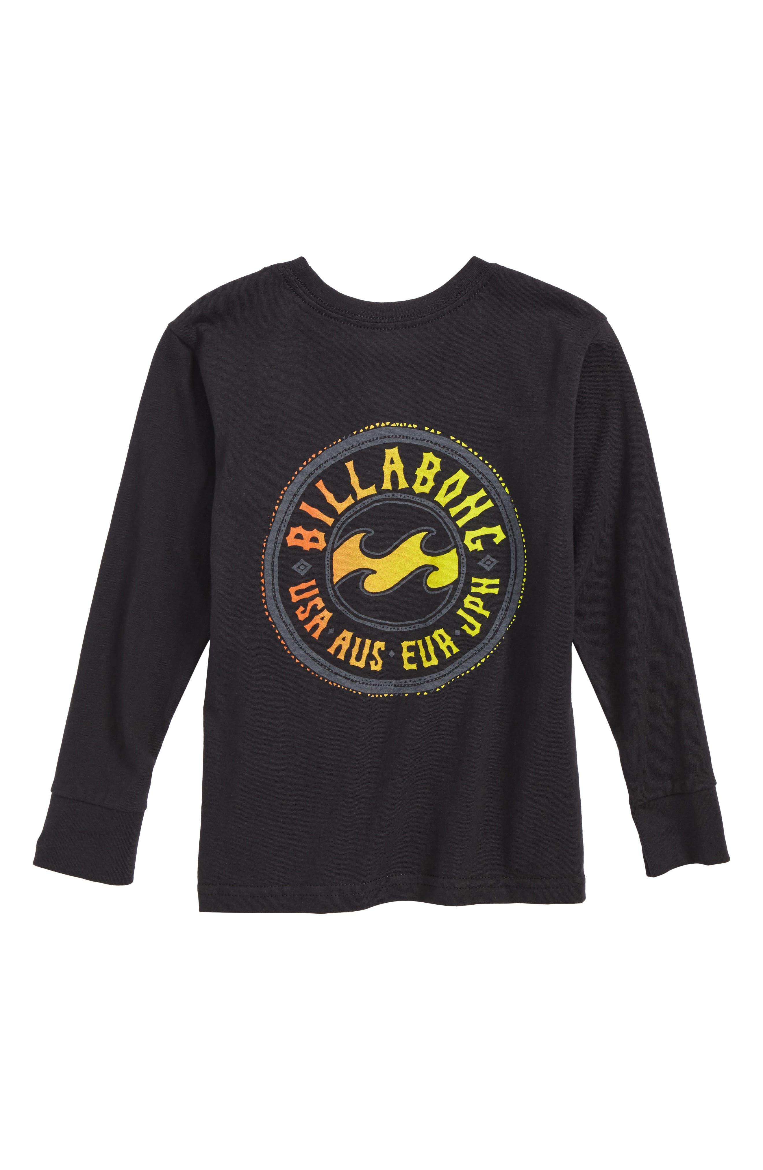 Flip Wave Long Sleeve Graphic T-Shirt,                             Alternate thumbnail 2, color,                             001