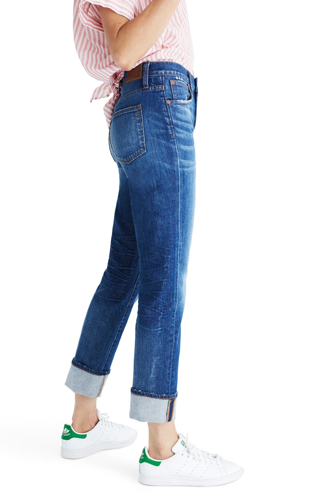 The High Rise Slim Boyjeans,                             Alternate thumbnail 3, color,                             401