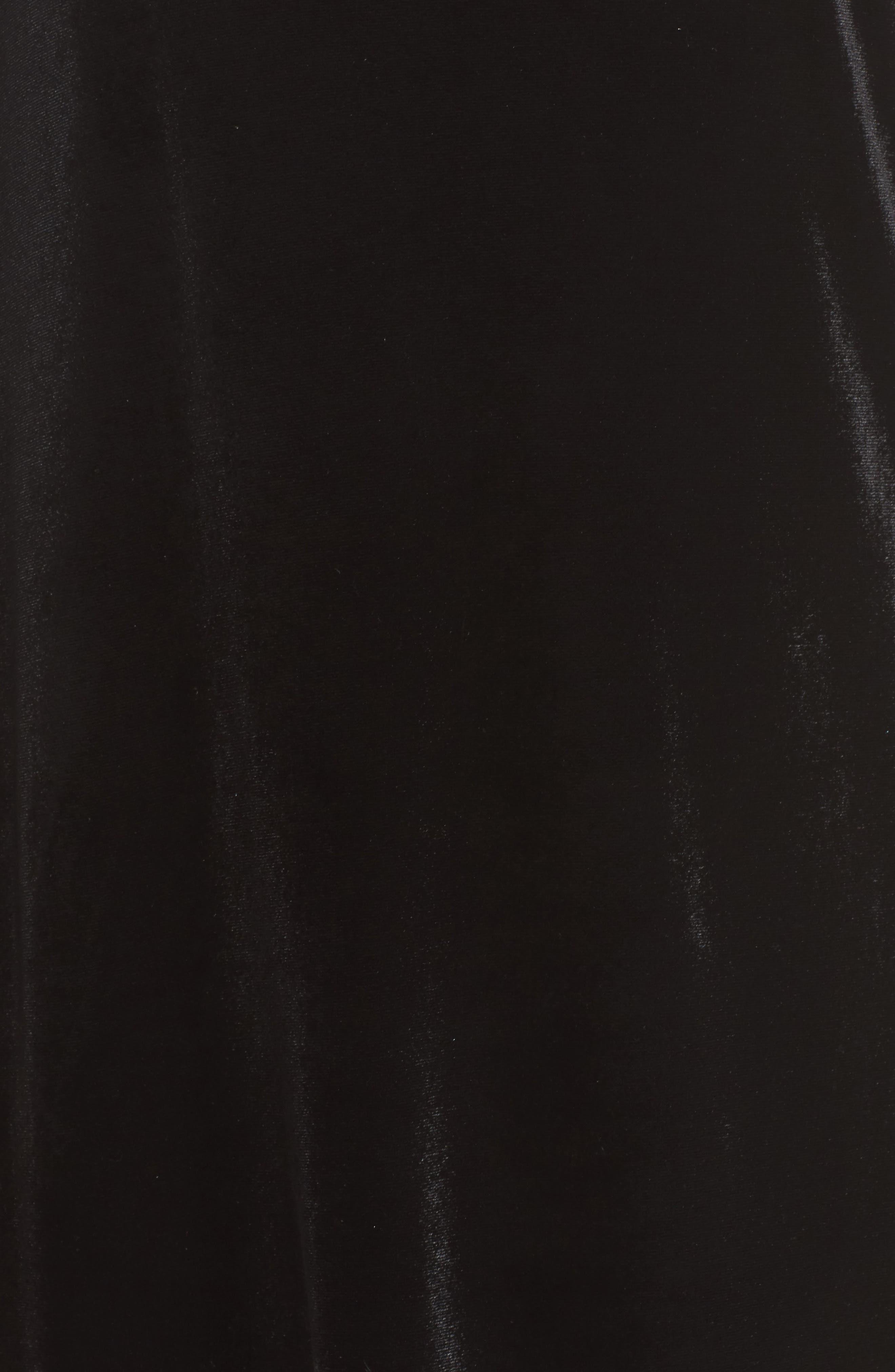 Aurore One-Shoulder Velvet Dress,                             Alternate thumbnail 5, color,                             001