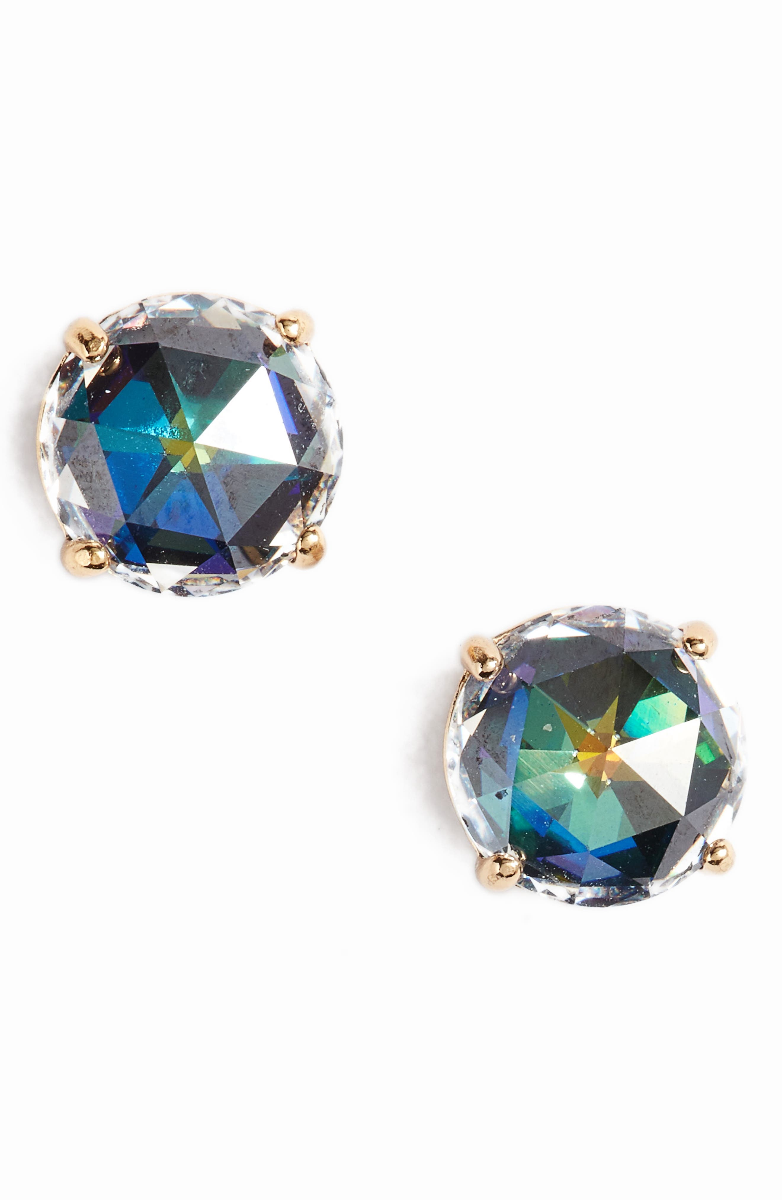 KATE SPADE NEW YORK bright idea stud earrings, Main, color, JET