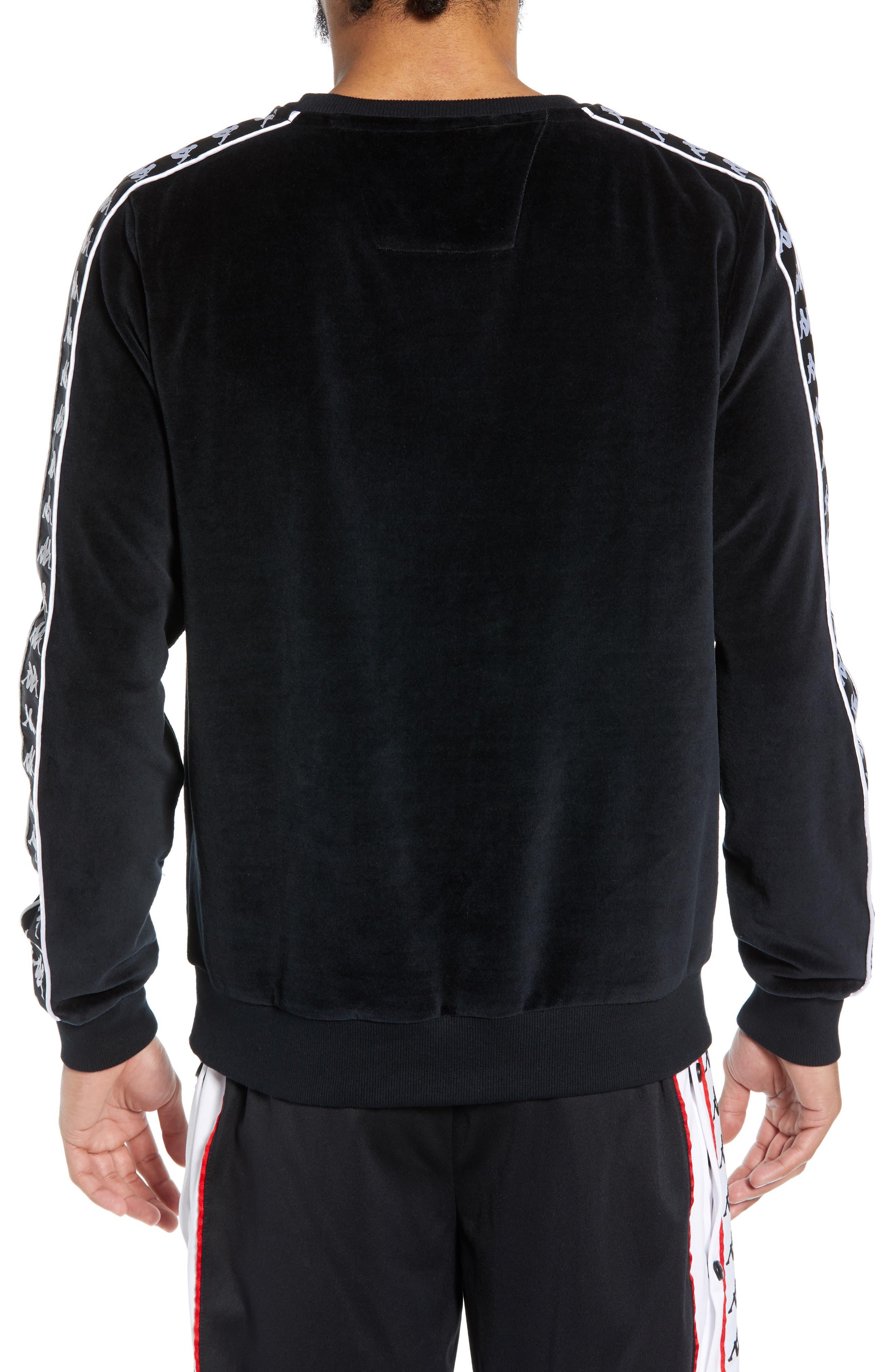 KAPPA,                             Authentic Aynset Velour Crewneck Sweatshirt,                             Alternate thumbnail 2, color,                             001