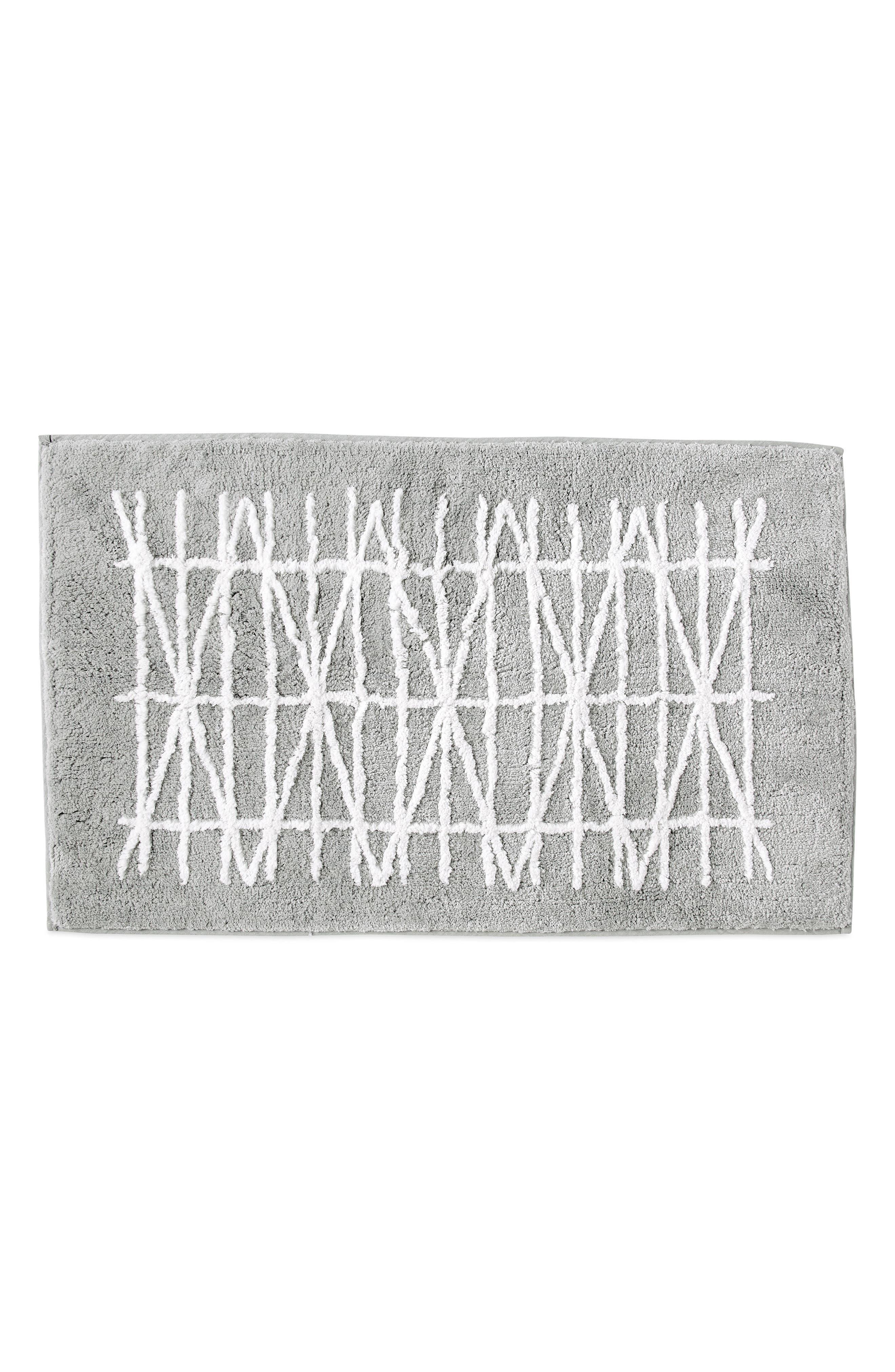 Geometrix Bath Rug,                         Main,                         color, WHITE/ SLATE