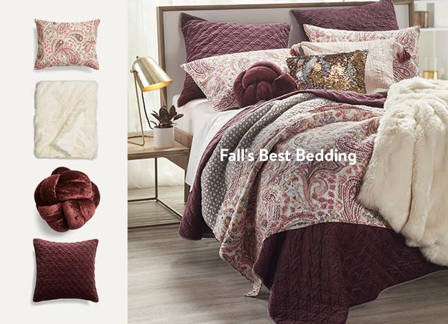 Bedding and home decor for fall.