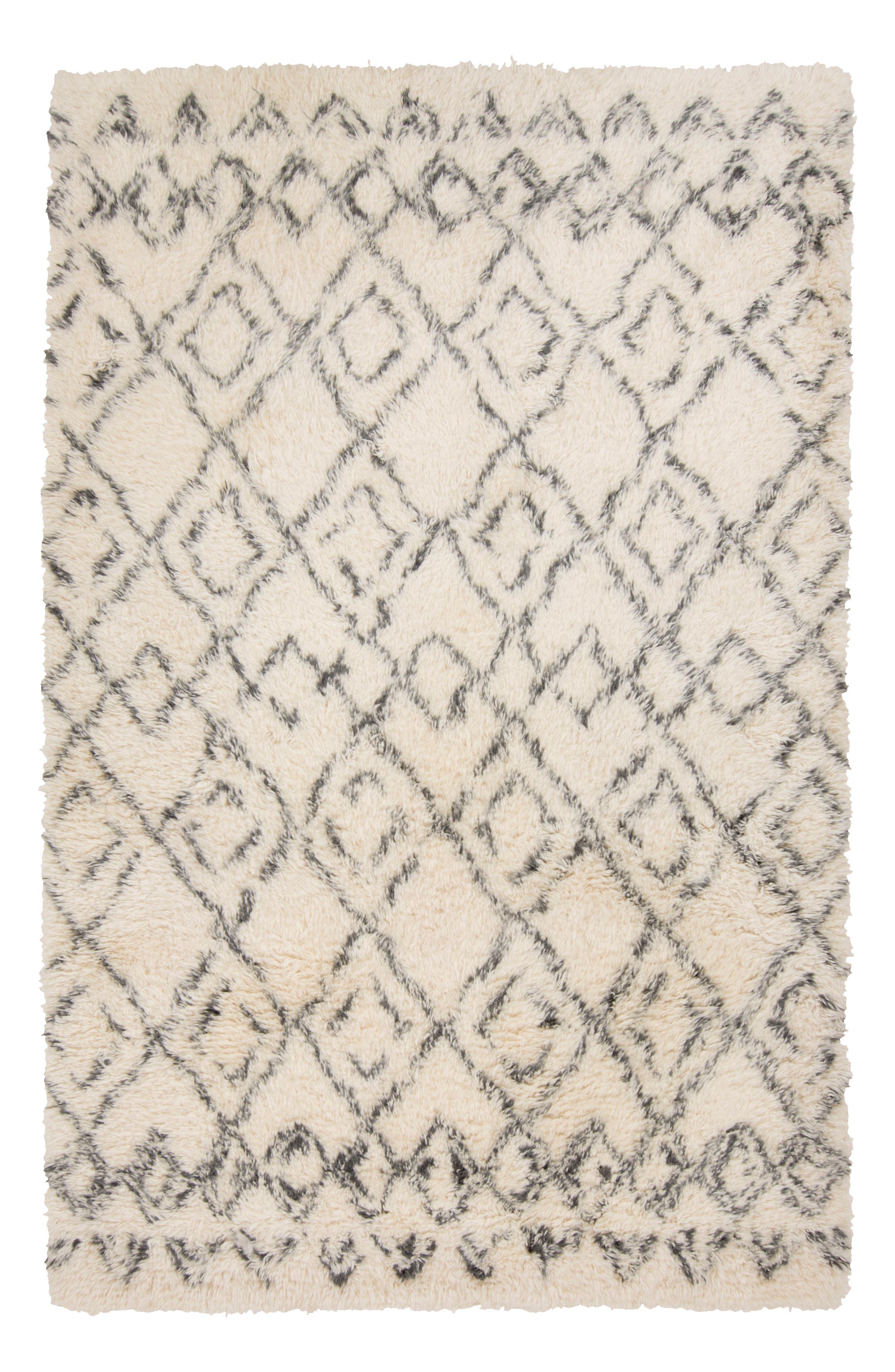 'Tasman' New Zealand Wool Rug,                             Alternate thumbnail 5, color,                             IVORY/ CHARCOAL