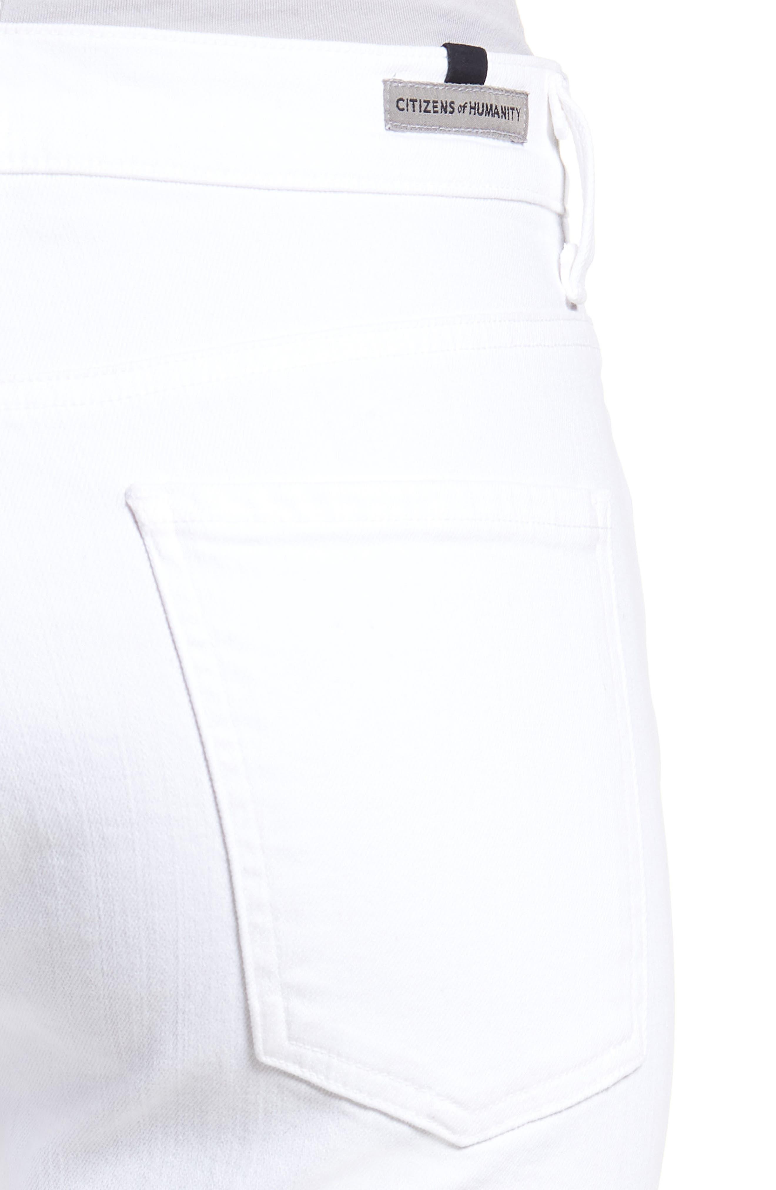 Fleetwood Crop Straight Leg Jeans,                             Alternate thumbnail 4, color,                             104