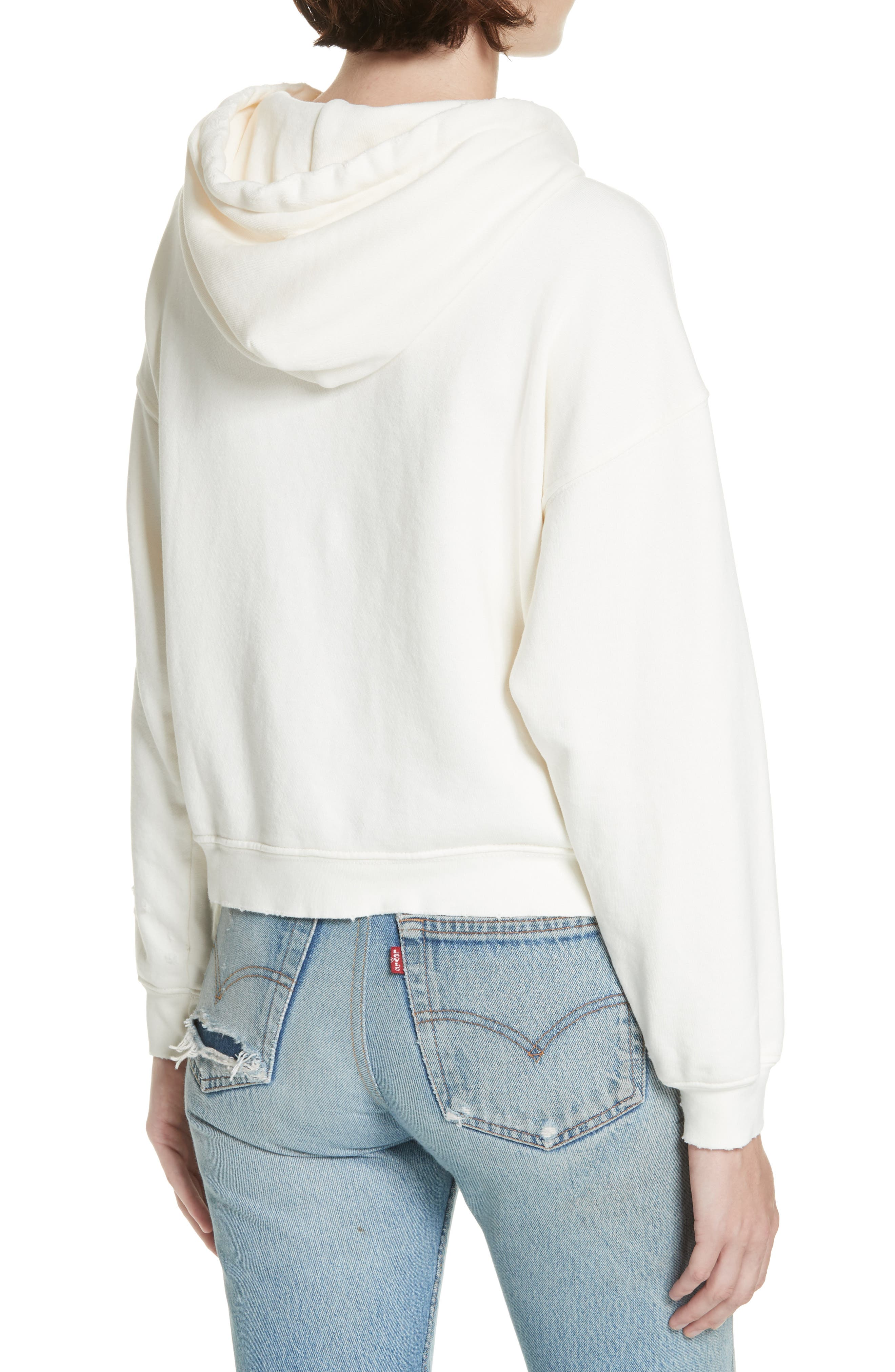 Doll Studded Logo Sweatshirt,                             Alternate thumbnail 2, color,                             VINTAGE WHITE
