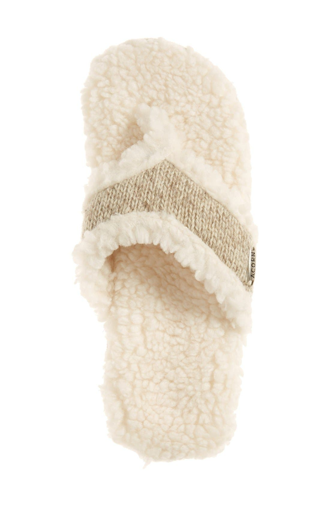 ACORN,                             'Ragg' Spa Slipper,                             Alternate thumbnail 3, color,                             GREY FABRIC