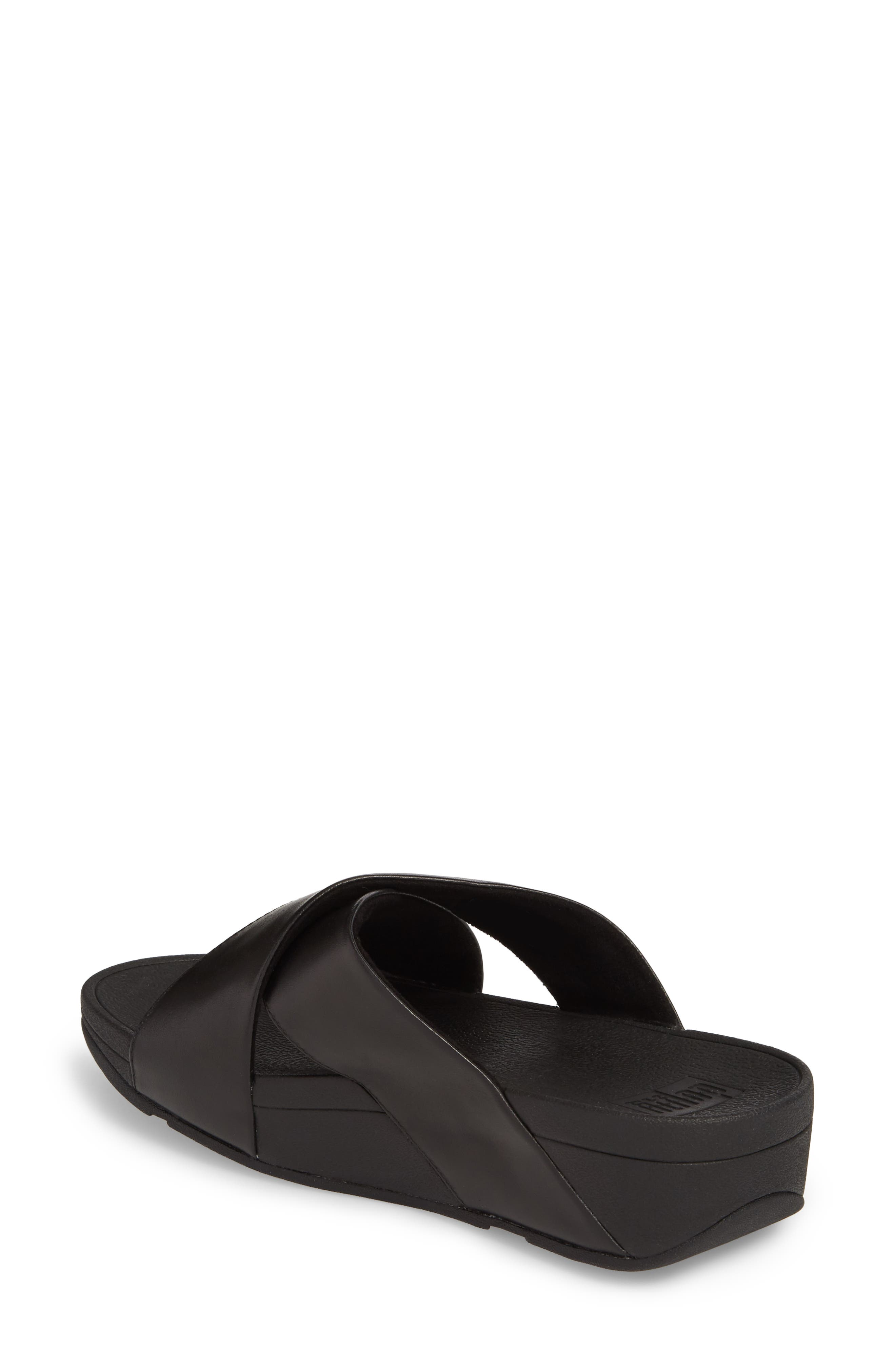 Lulu Cross Slide Sandal,                             Alternate thumbnail 2, color,                             001