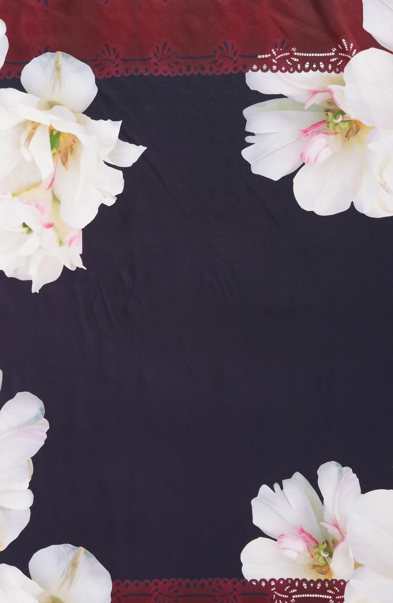 Gardenia Square Silk Scarf,                             Alternate thumbnail 4, color,                             110