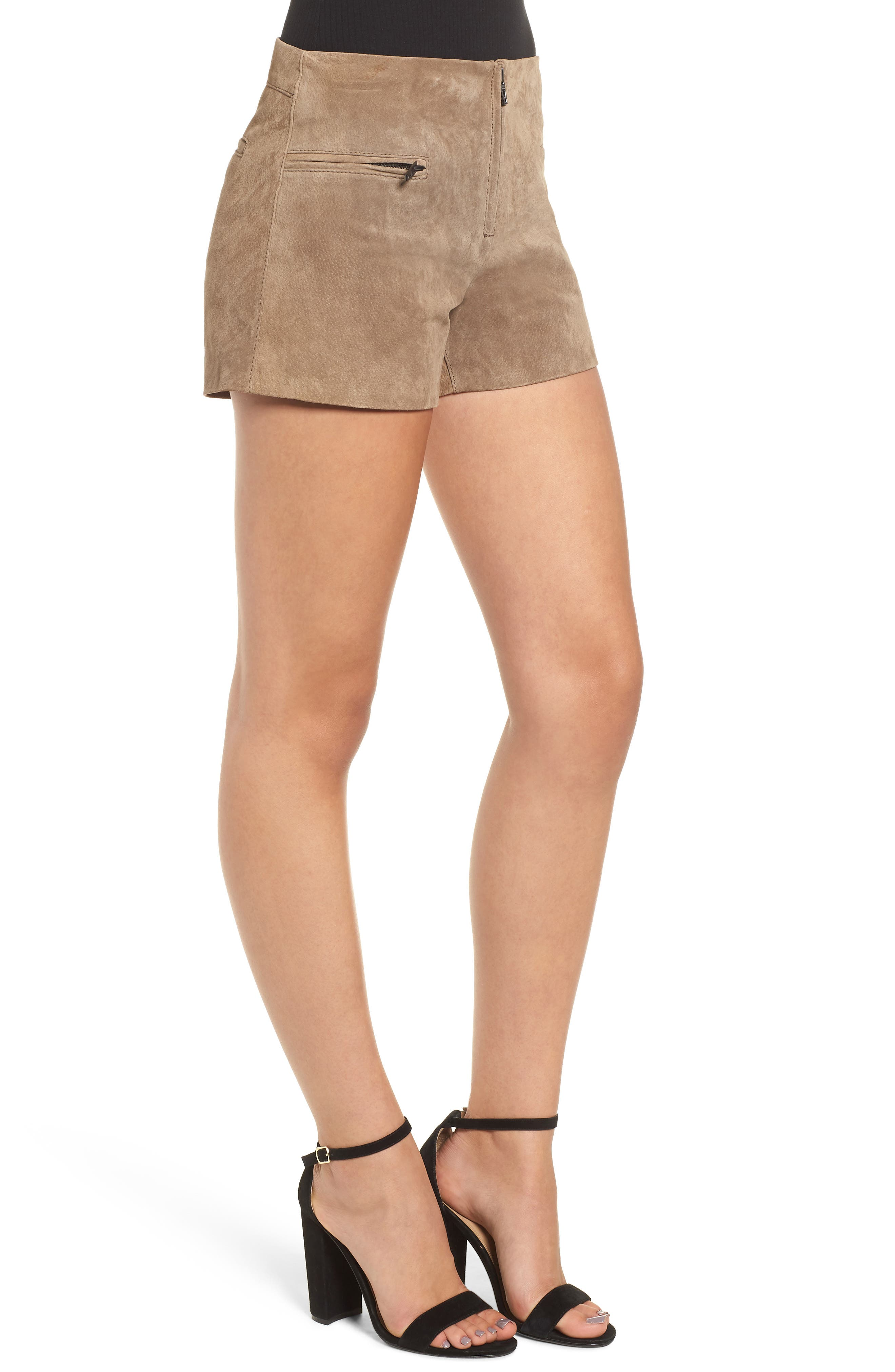 Suede Shorts,                             Alternate thumbnail 3, color,                             MIDNIGHT TOKER