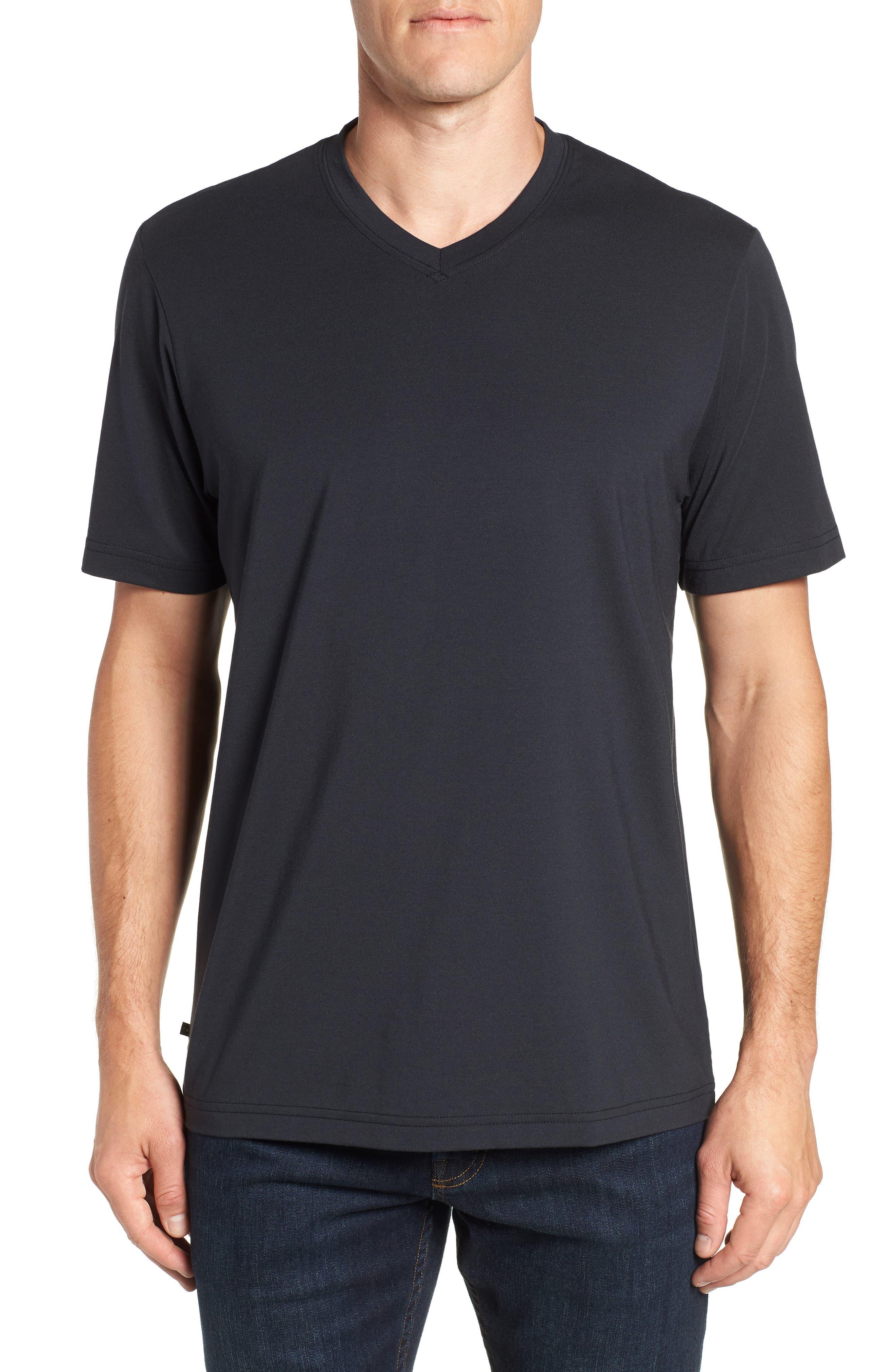 Potholder V-Neck T-Shirt,                         Main,                         color, BLACK