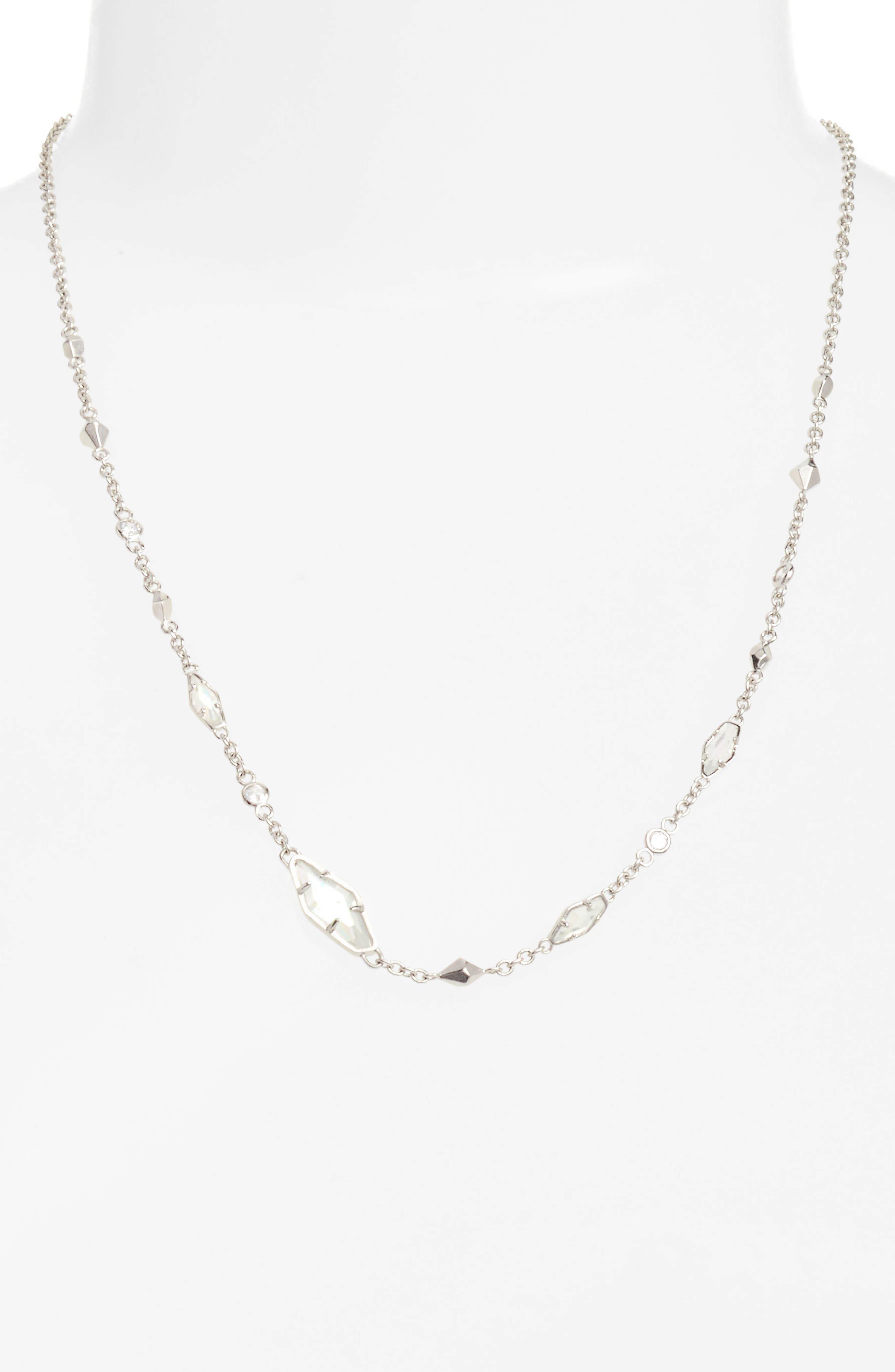 'Debra' Jewel Necklace, Main, color, 041