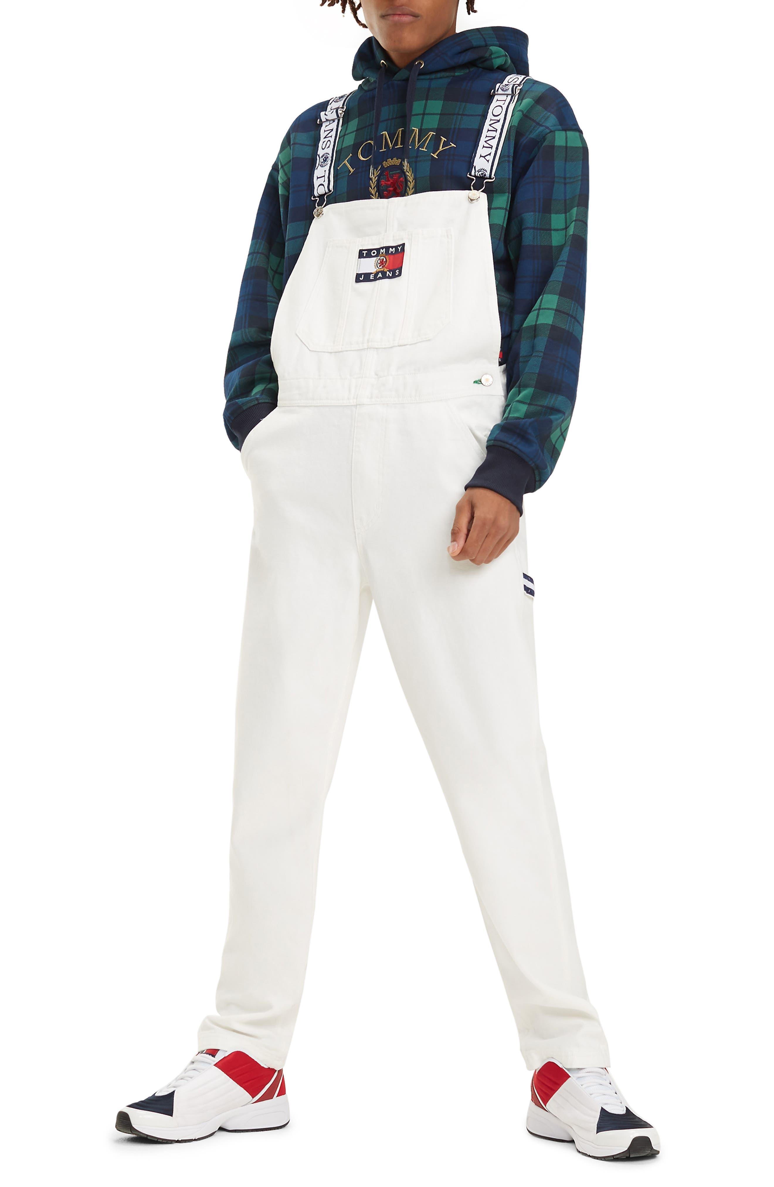 Crest Denim Overalls,                         Main,                         color, CLOUD DANCER