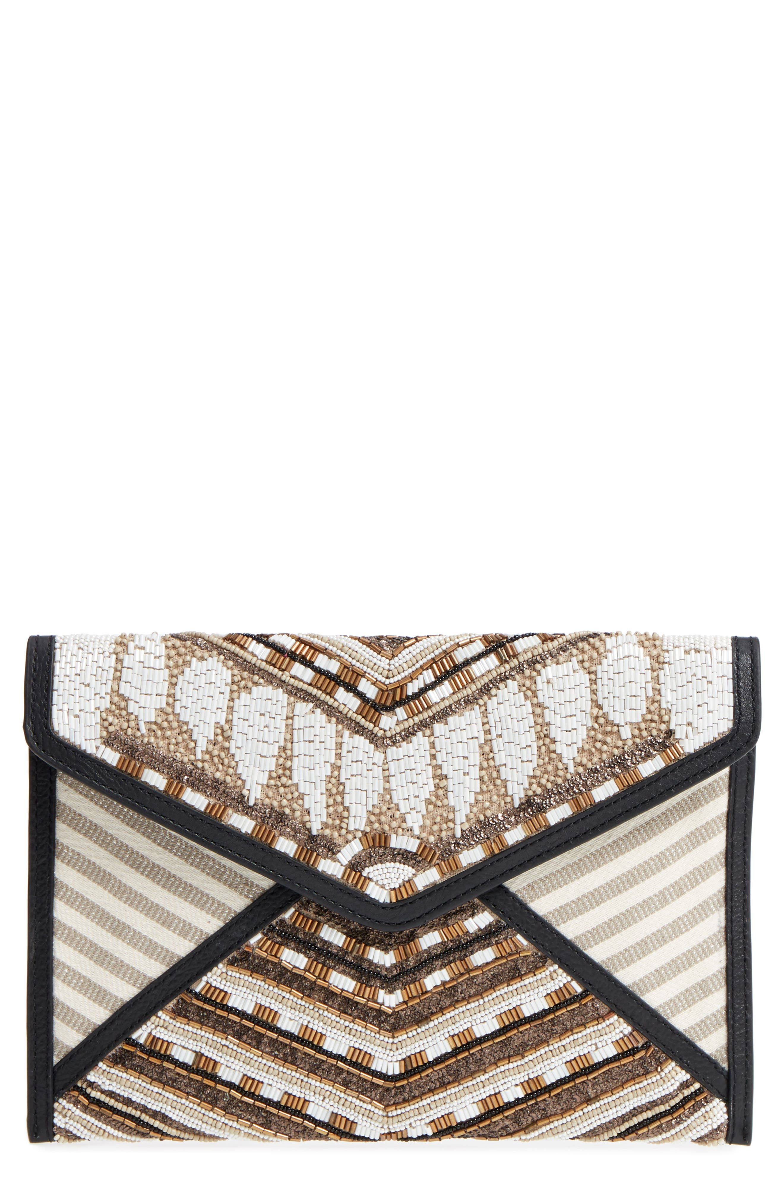 Leo Beaded Clutch,                             Main thumbnail 1, color,
