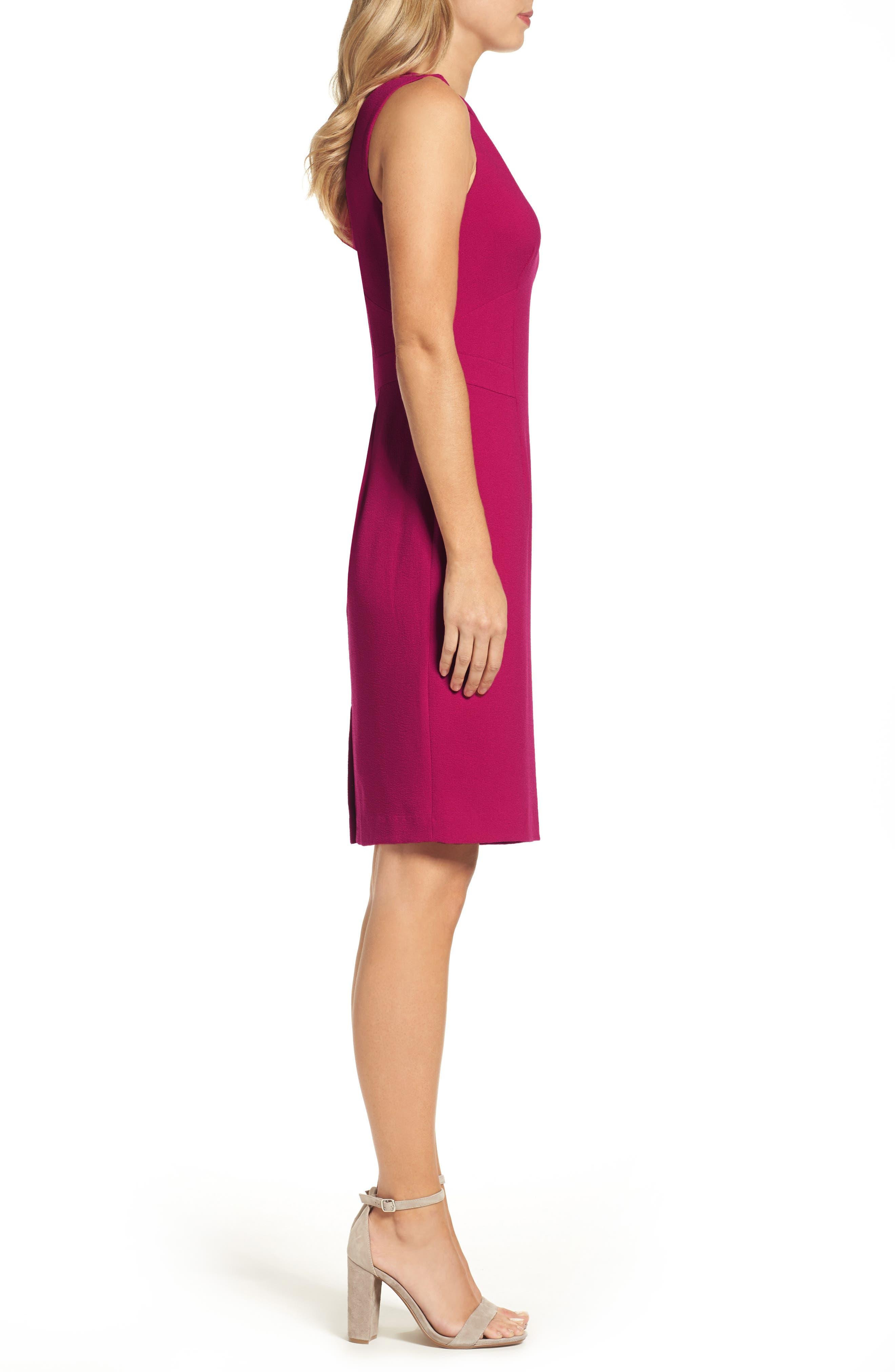 Seamed Sheath Dress,                             Alternate thumbnail 3, color,