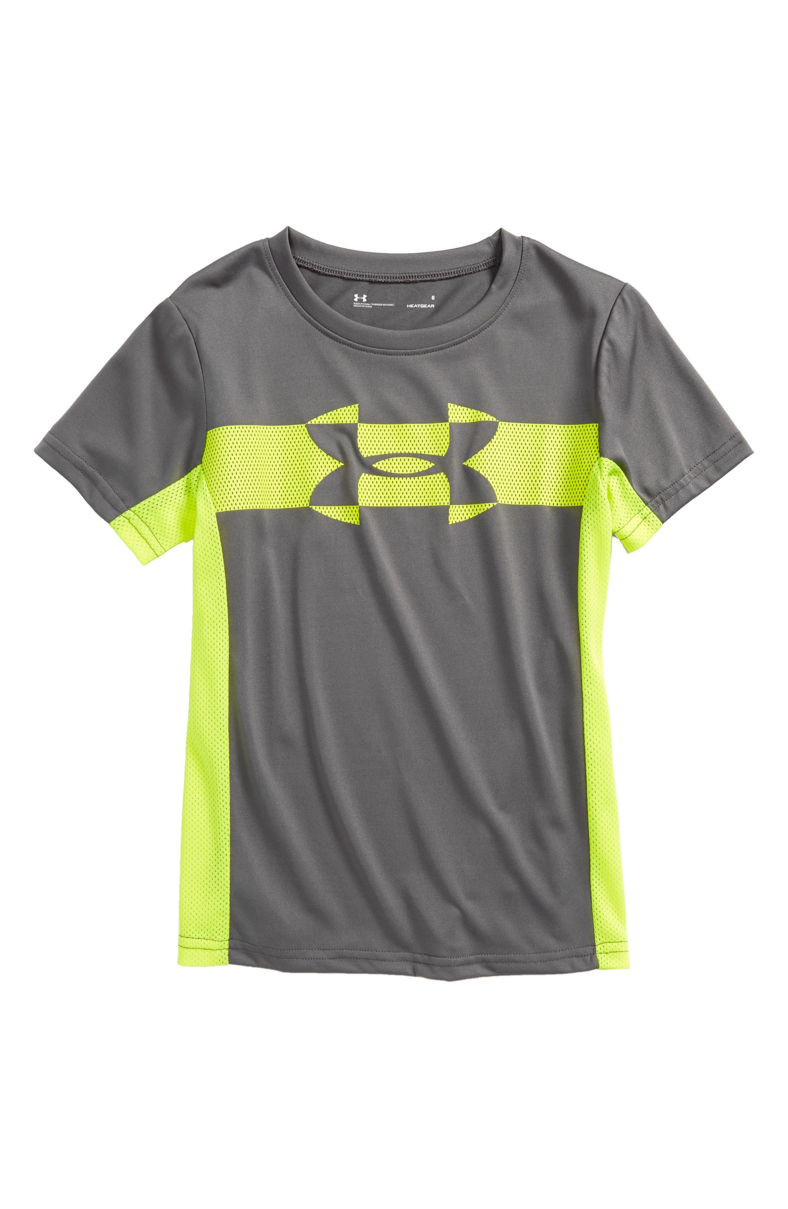 Mesh Logo HeatGear<sup>®</sup> T-Shirt,                             Main thumbnail 1, color,                             020