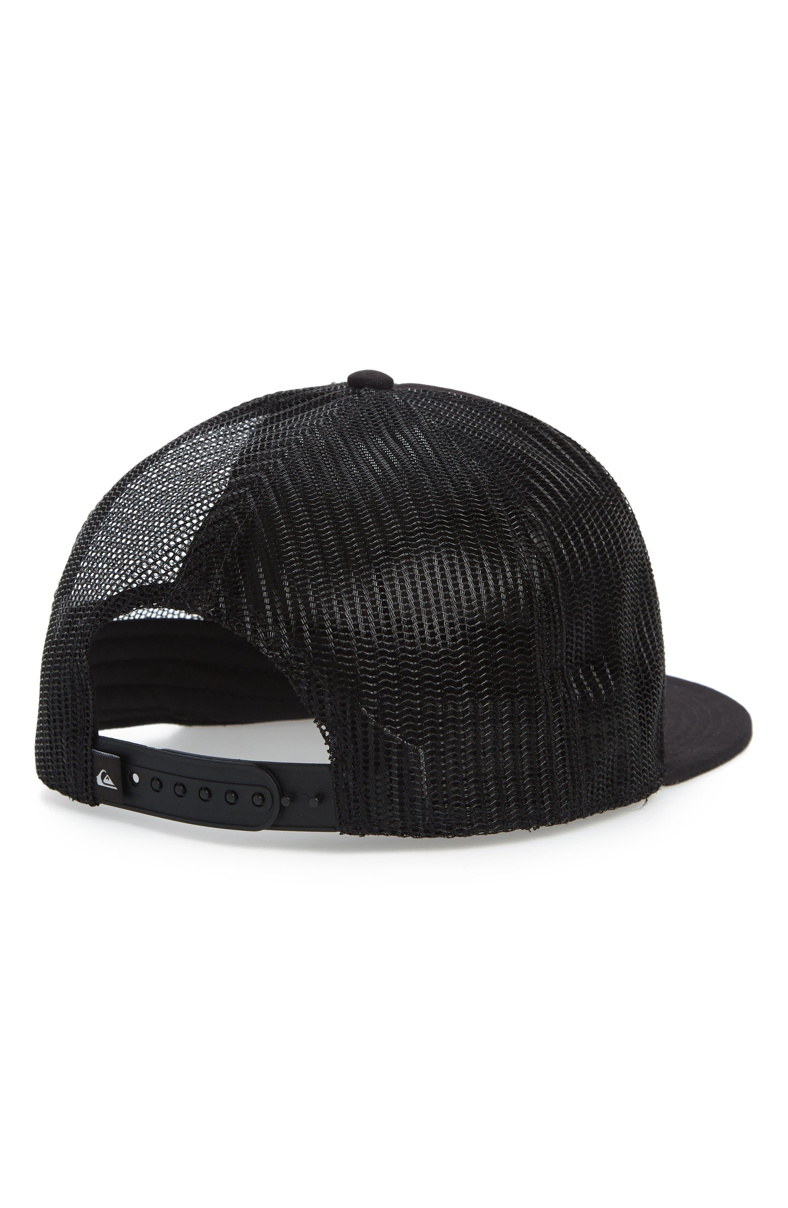 Past Checker Trucker Hat,                             Alternate thumbnail 2, color,                             BLACK