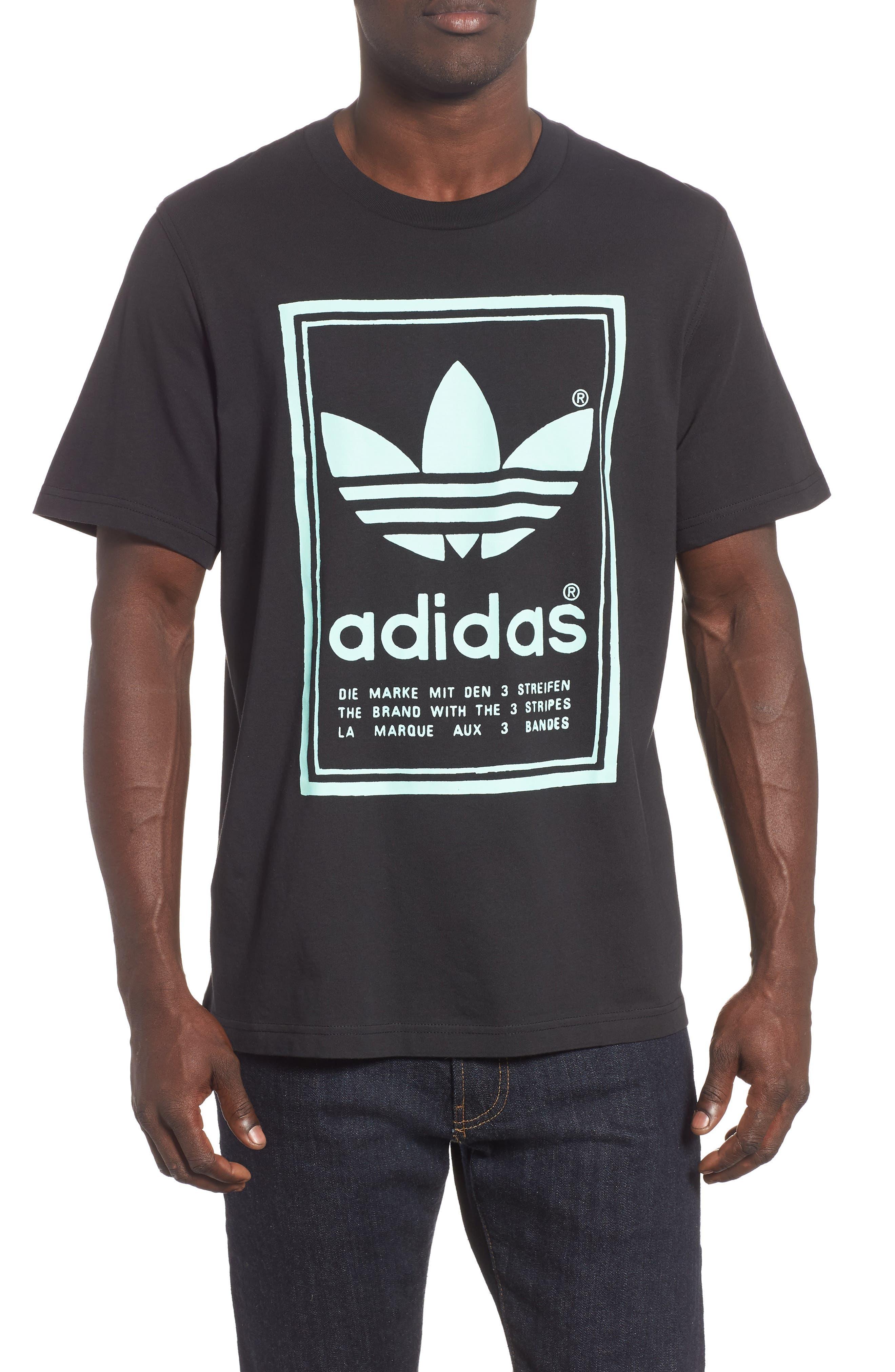 Vintage Logo Graphic T-Shirt,                             Main thumbnail 1, color,                             BLACK