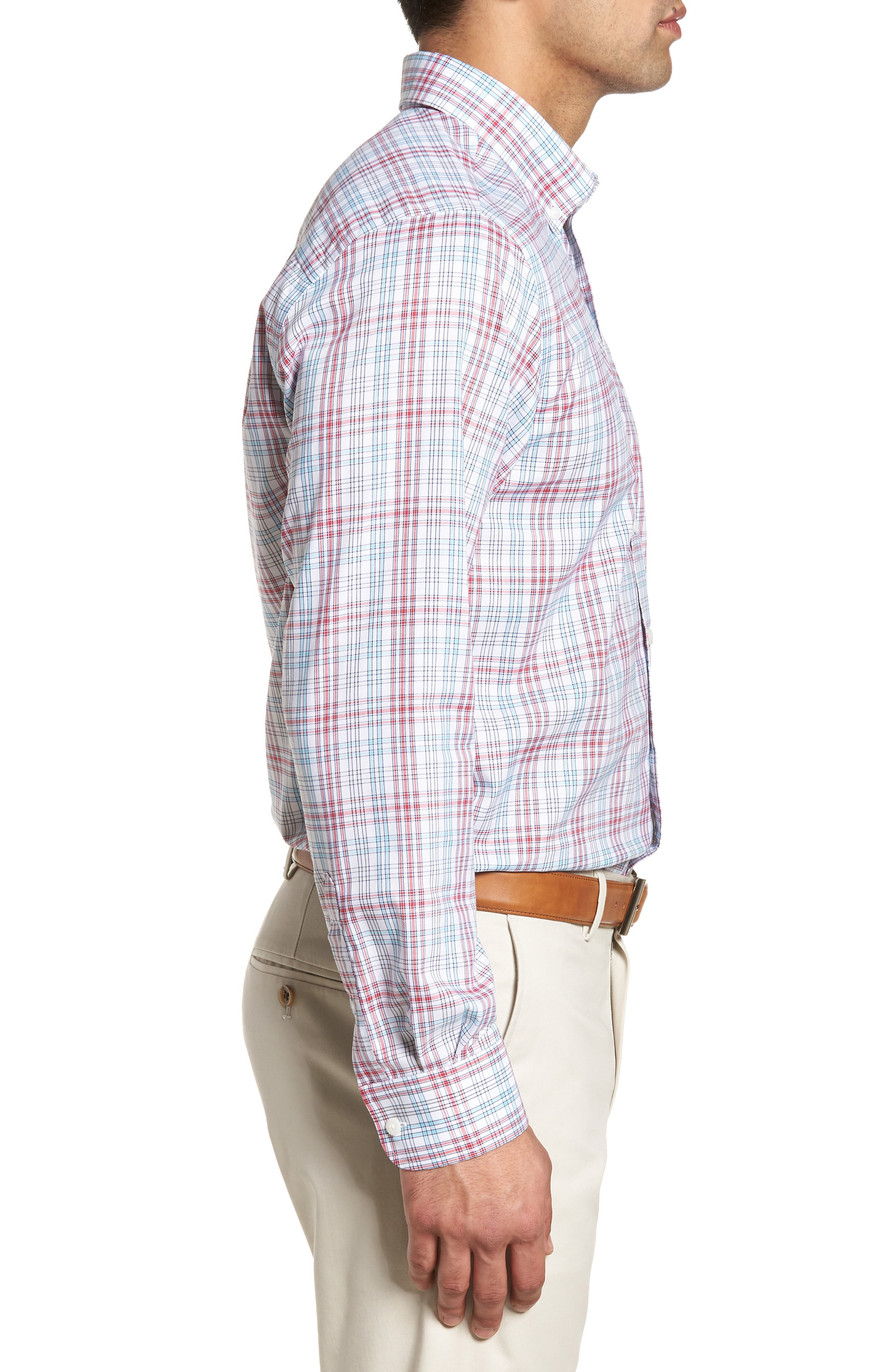 Charlie Classic Fit Easy Care Check Sport Shirt,                             Alternate thumbnail 6, color,