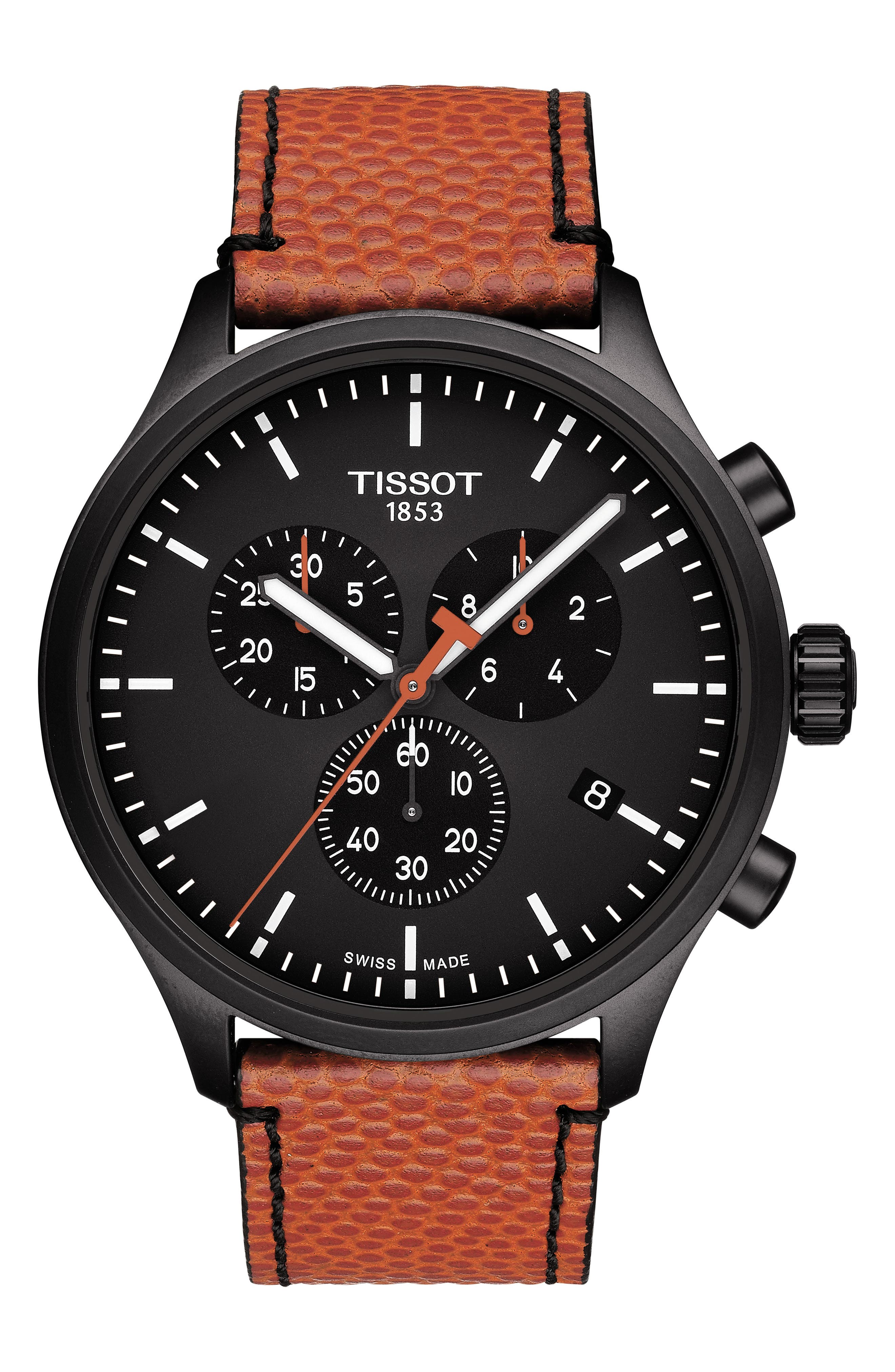 Chrono Xl Nba Leather Strap Watch, 45mm by Tissot
