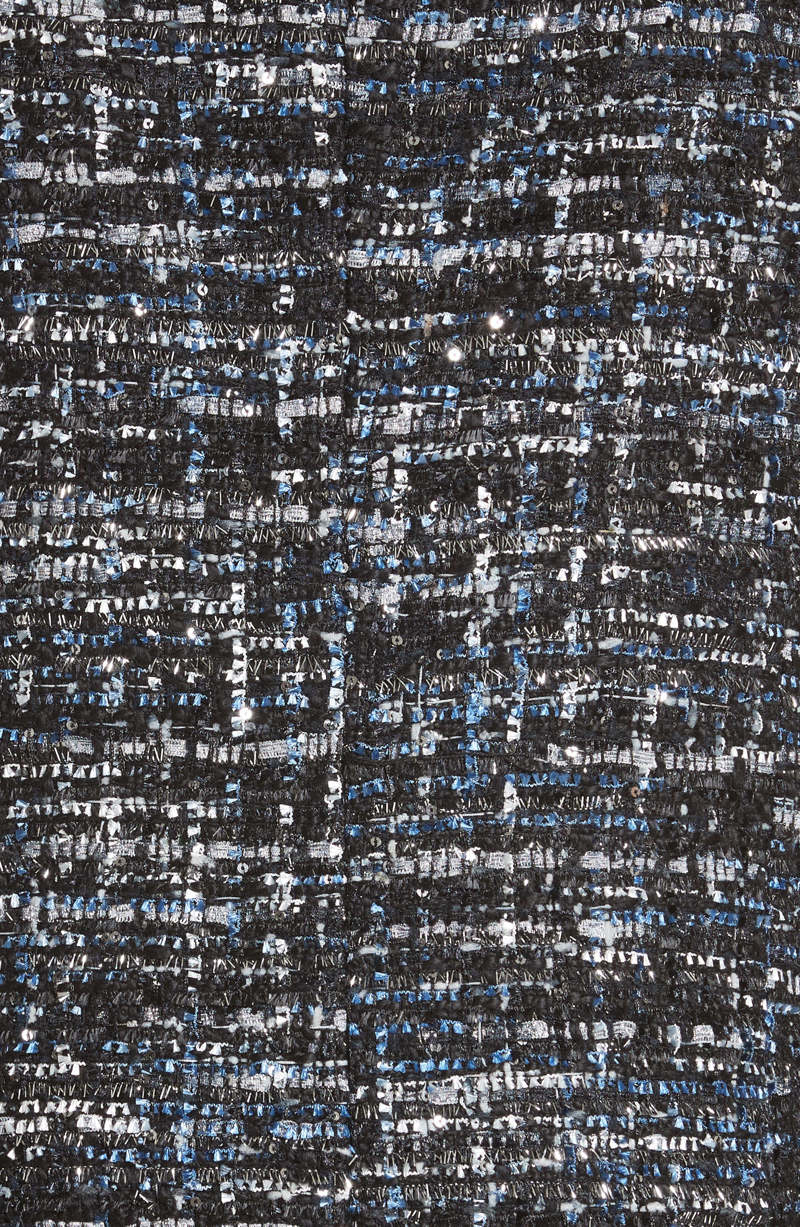 Sequin Tweed Jacket,                             Alternate thumbnail 6, color,                             001