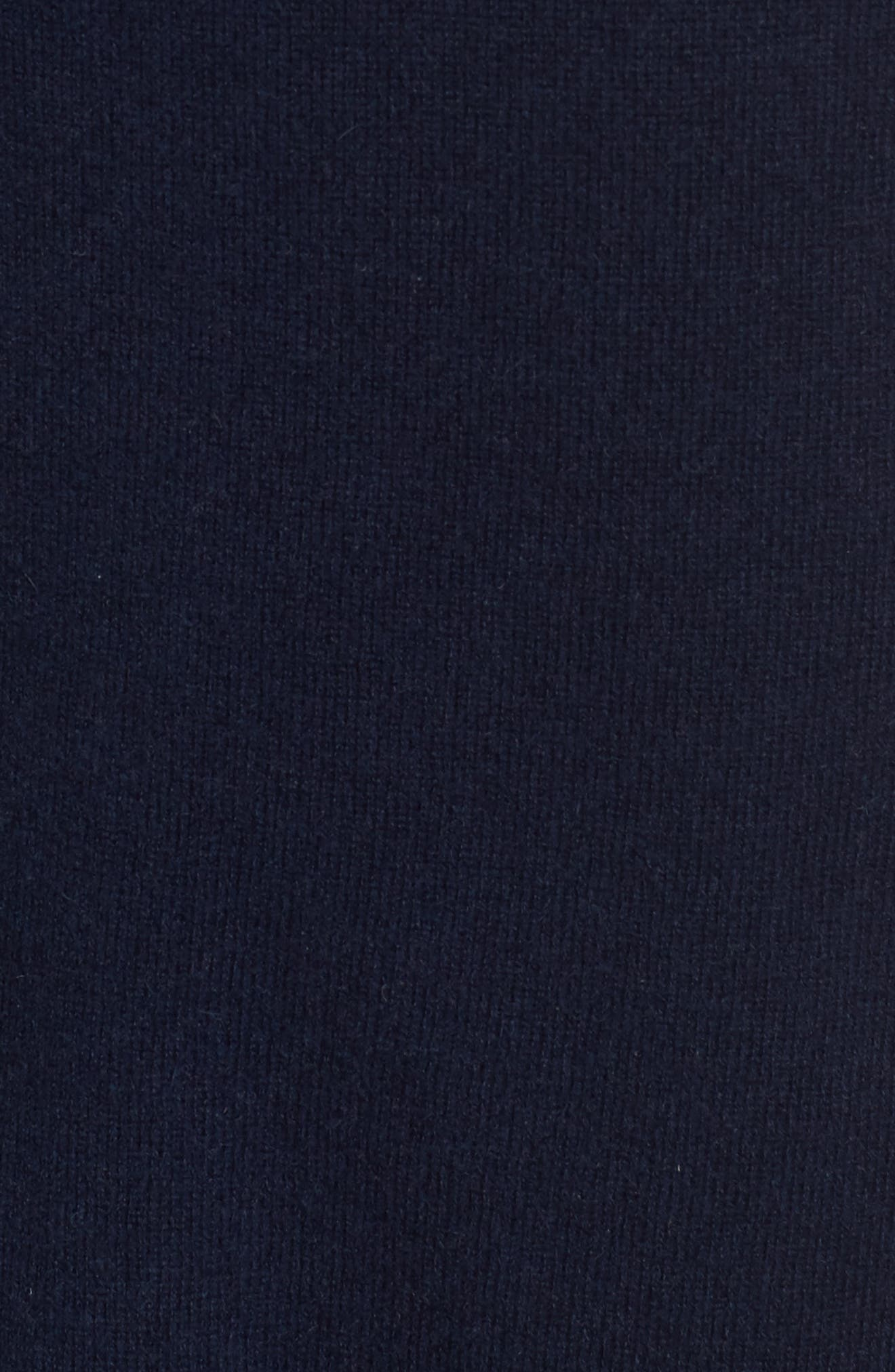 Turtleneck Cashmere Sweater,                             Alternate thumbnail 5, color,                             NAVY MEDIEVAL