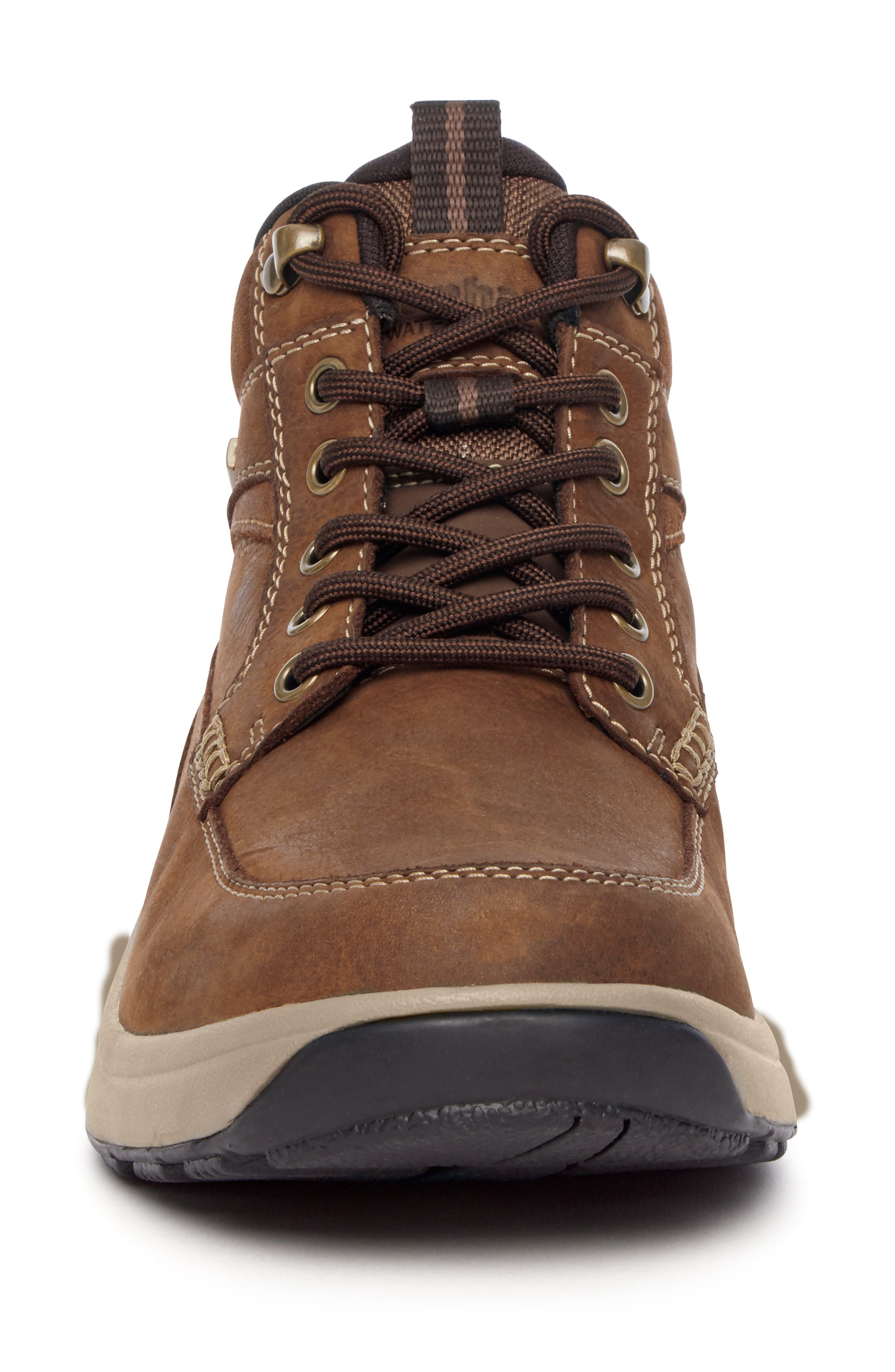 8000 Midland Waterproof Work Boot,                             Alternate thumbnail 4, color,                             TAN LEATHER