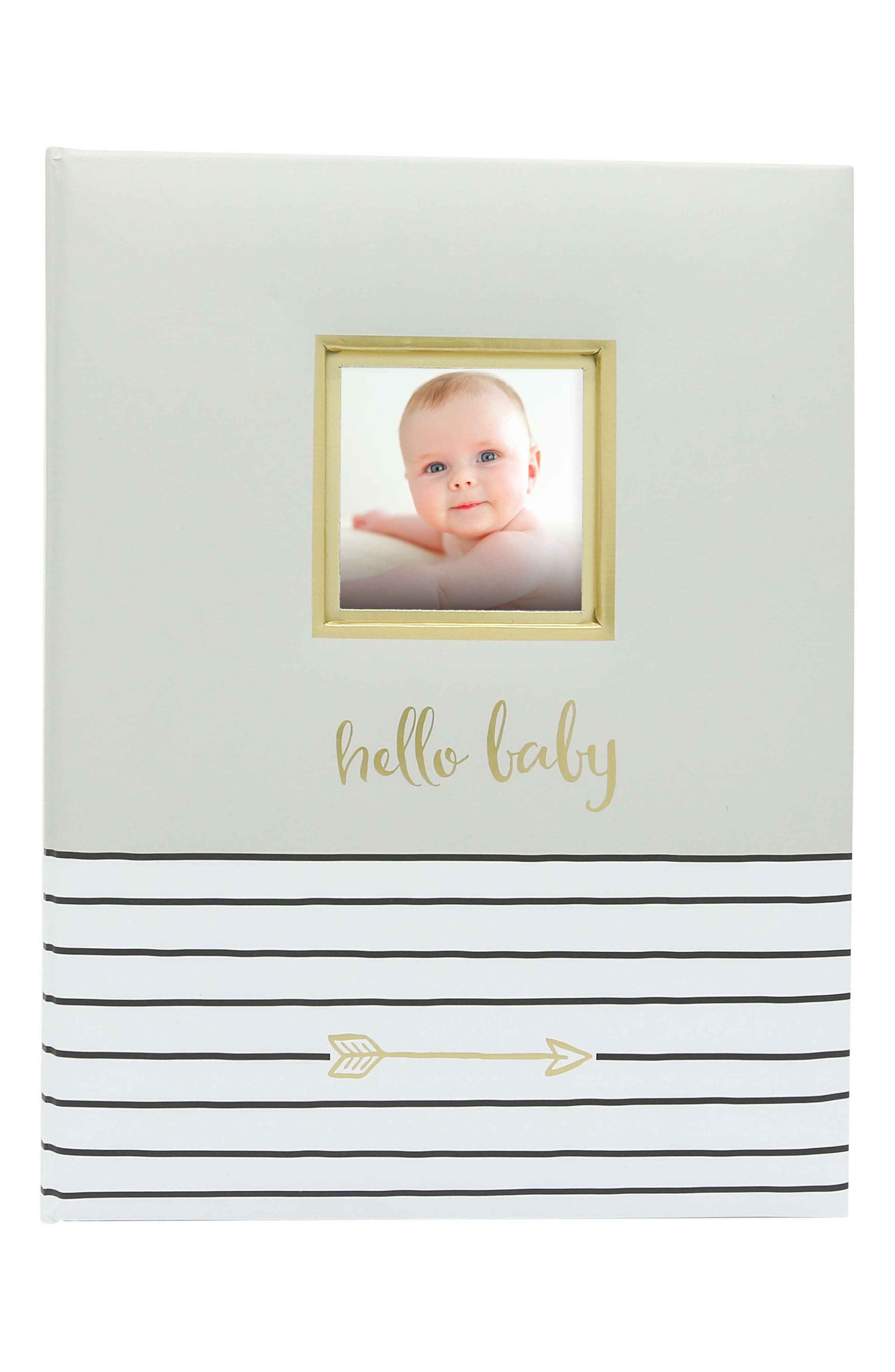 Hello Baby Book,                             Main thumbnail 1, color,                             GREY