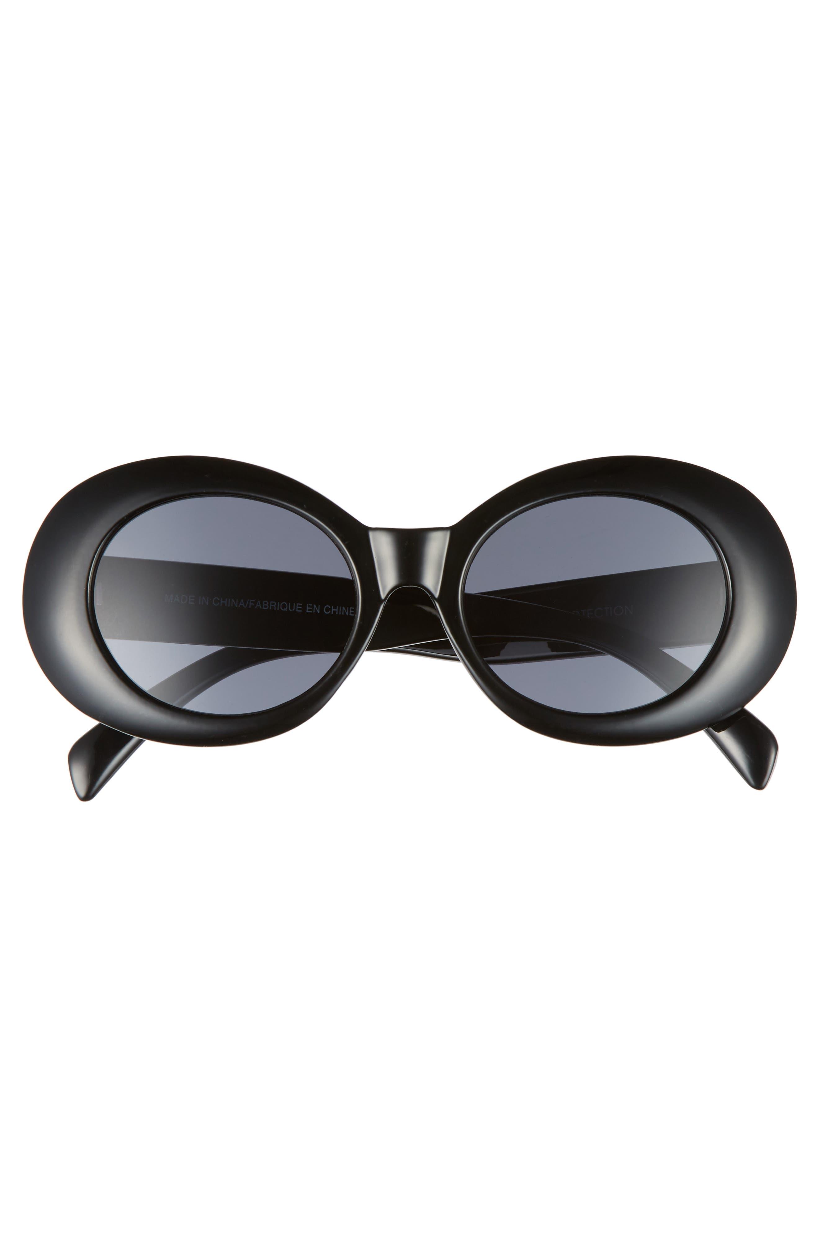 Oval Sunglasses,                             Alternate thumbnail 3, color,                             001