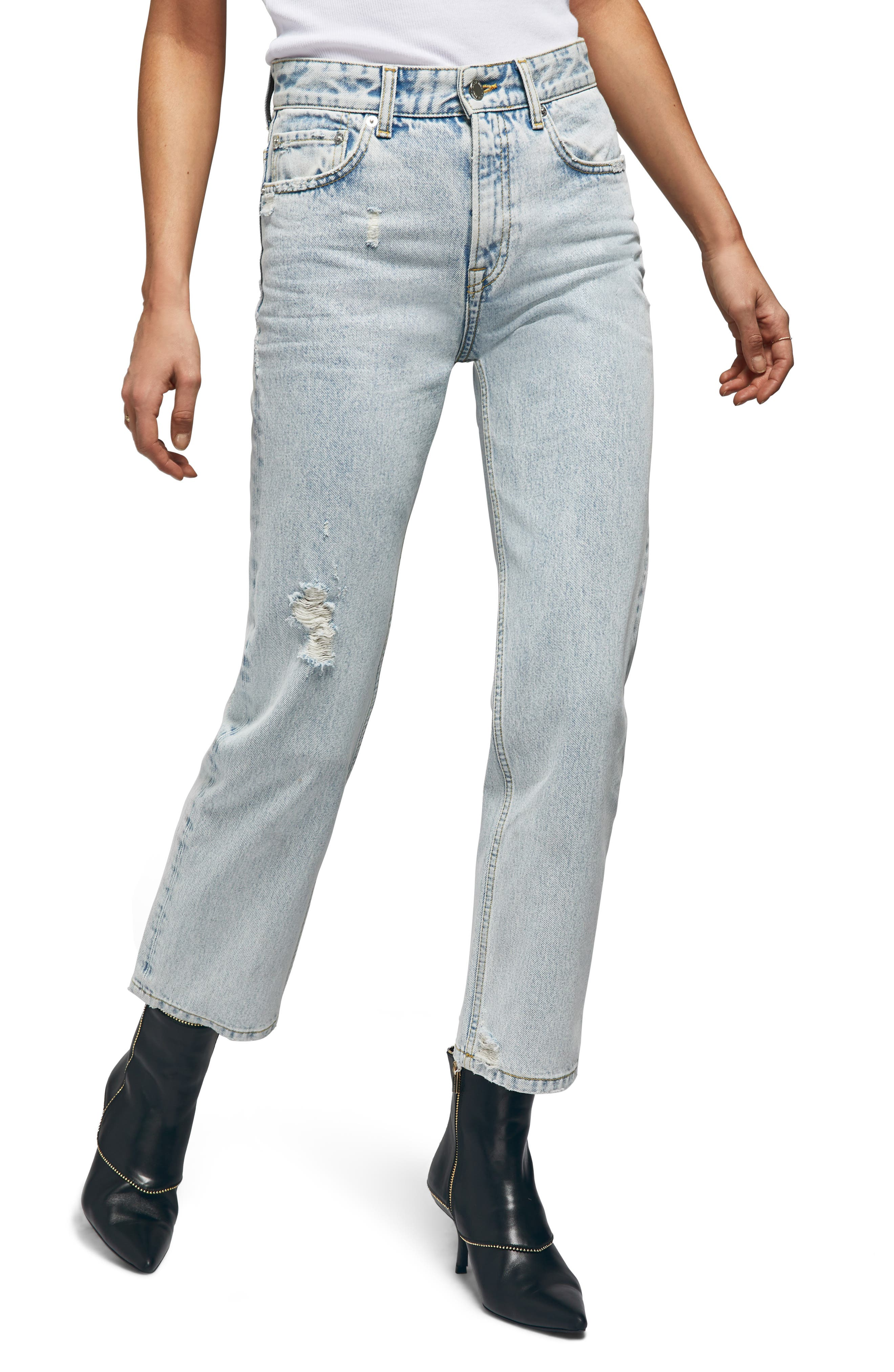 Etta Straight Leg Jeans,                             Main thumbnail 1, color,                             LIGHT BLUE