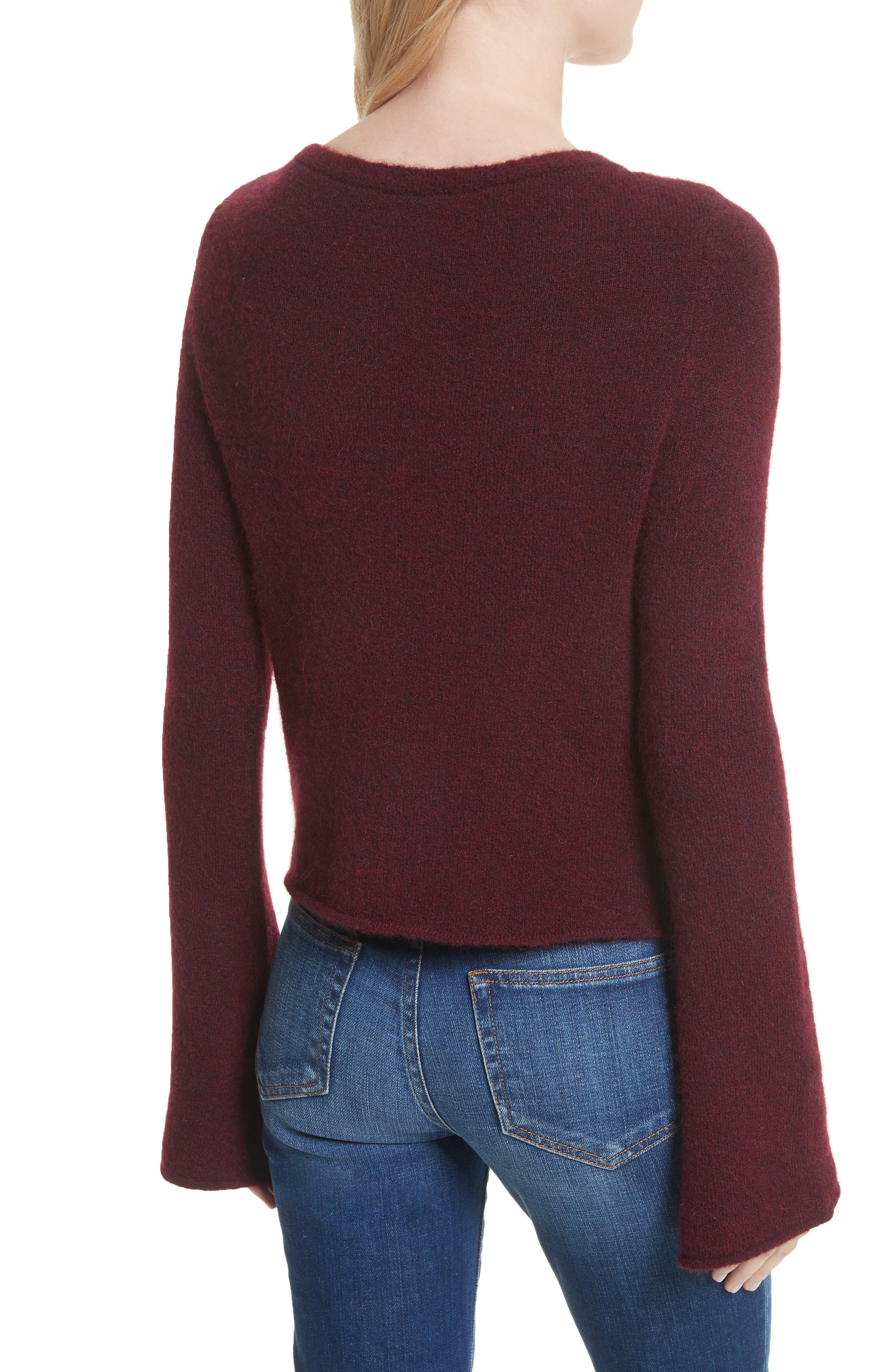 Candela Lace-Up Sweater,                             Alternate thumbnail 2, color,                             600