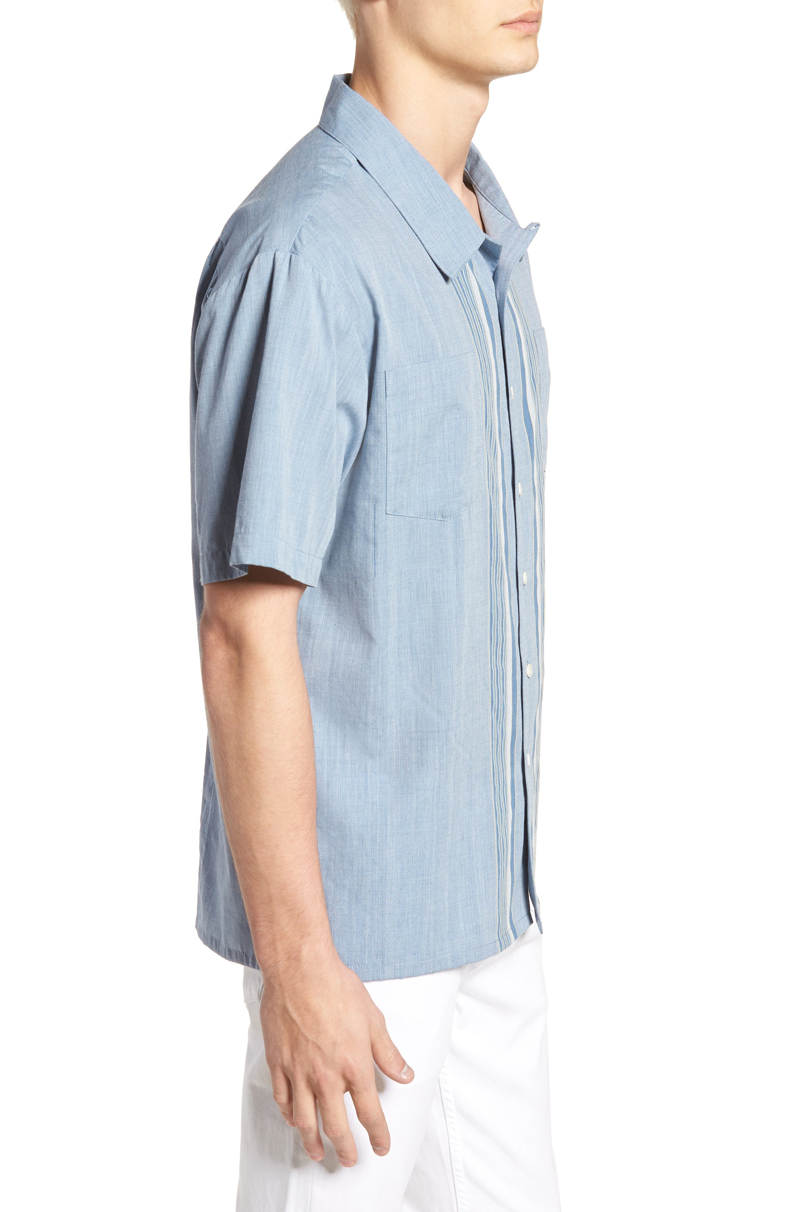 Cruze Woven Shirt,                             Alternate thumbnail 3, color,                             LIGHT BLUE