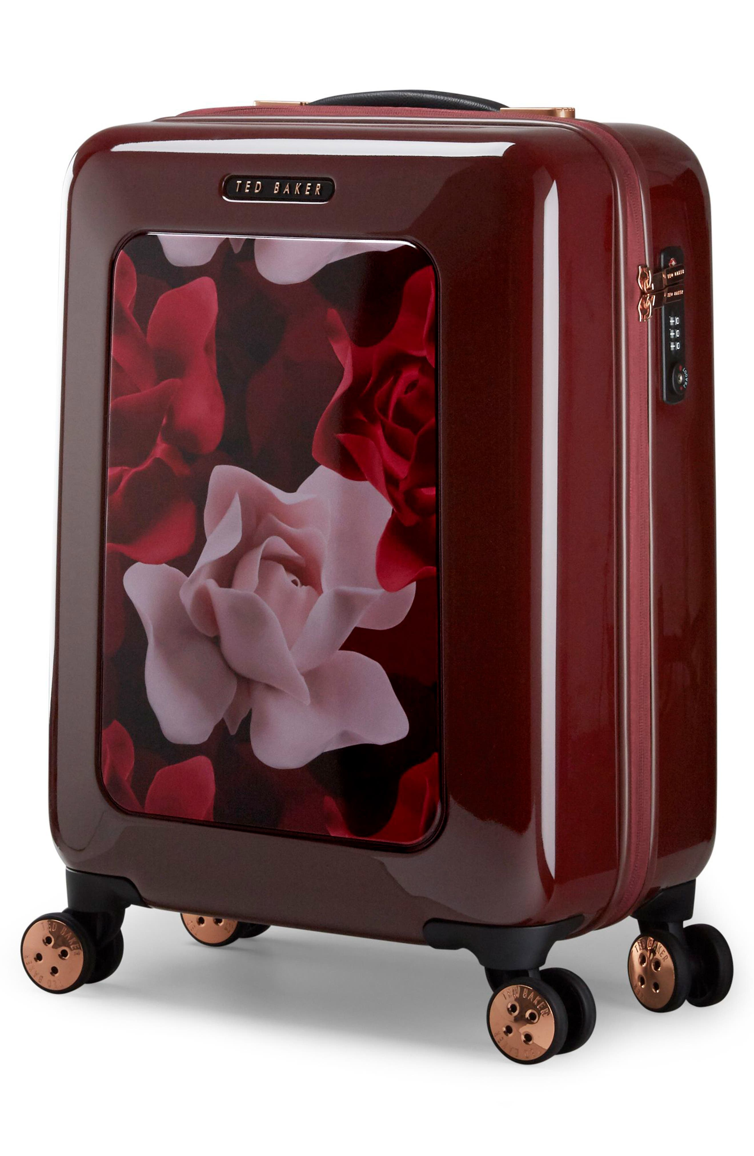 Small Porcelain Rose 21-Inch Spinner Carry-On,                             Alternate thumbnail 3, color,                             930