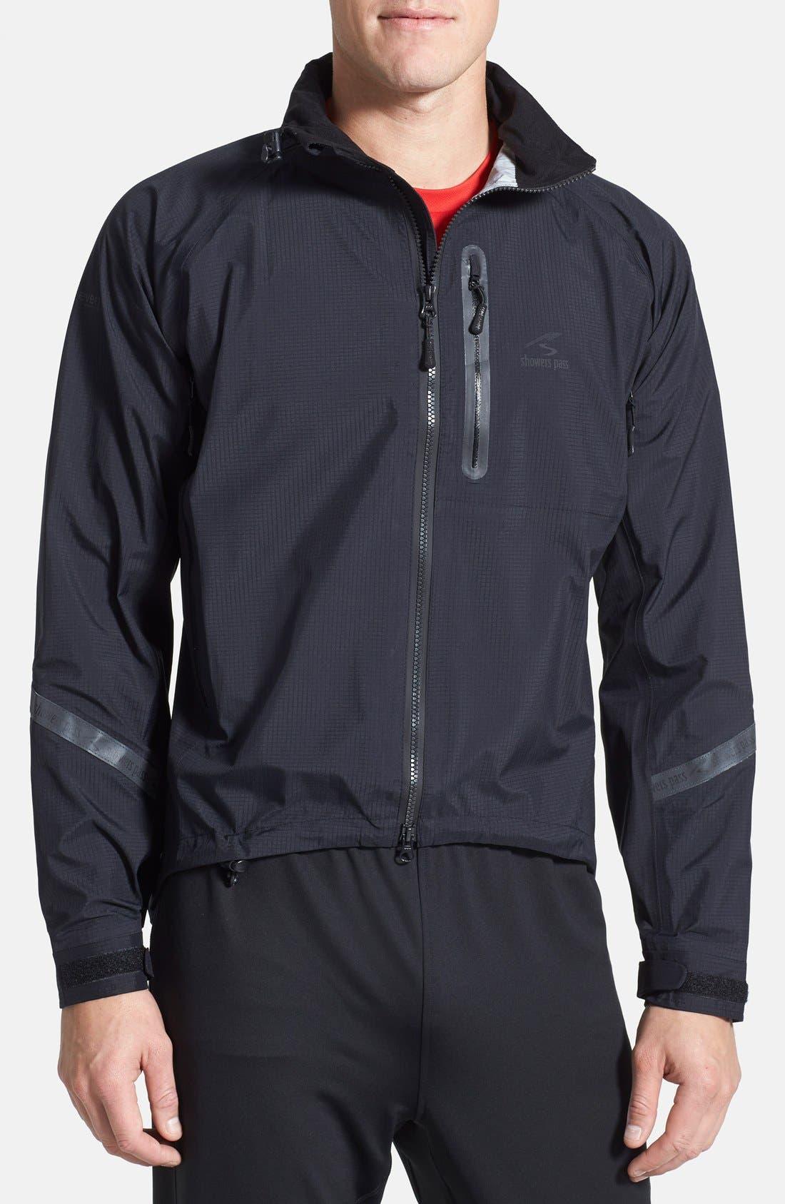 SHOWERS PASS 'Elite 2.1' Trim Fit Waterproof Hooded Jacket, Main, color, 001