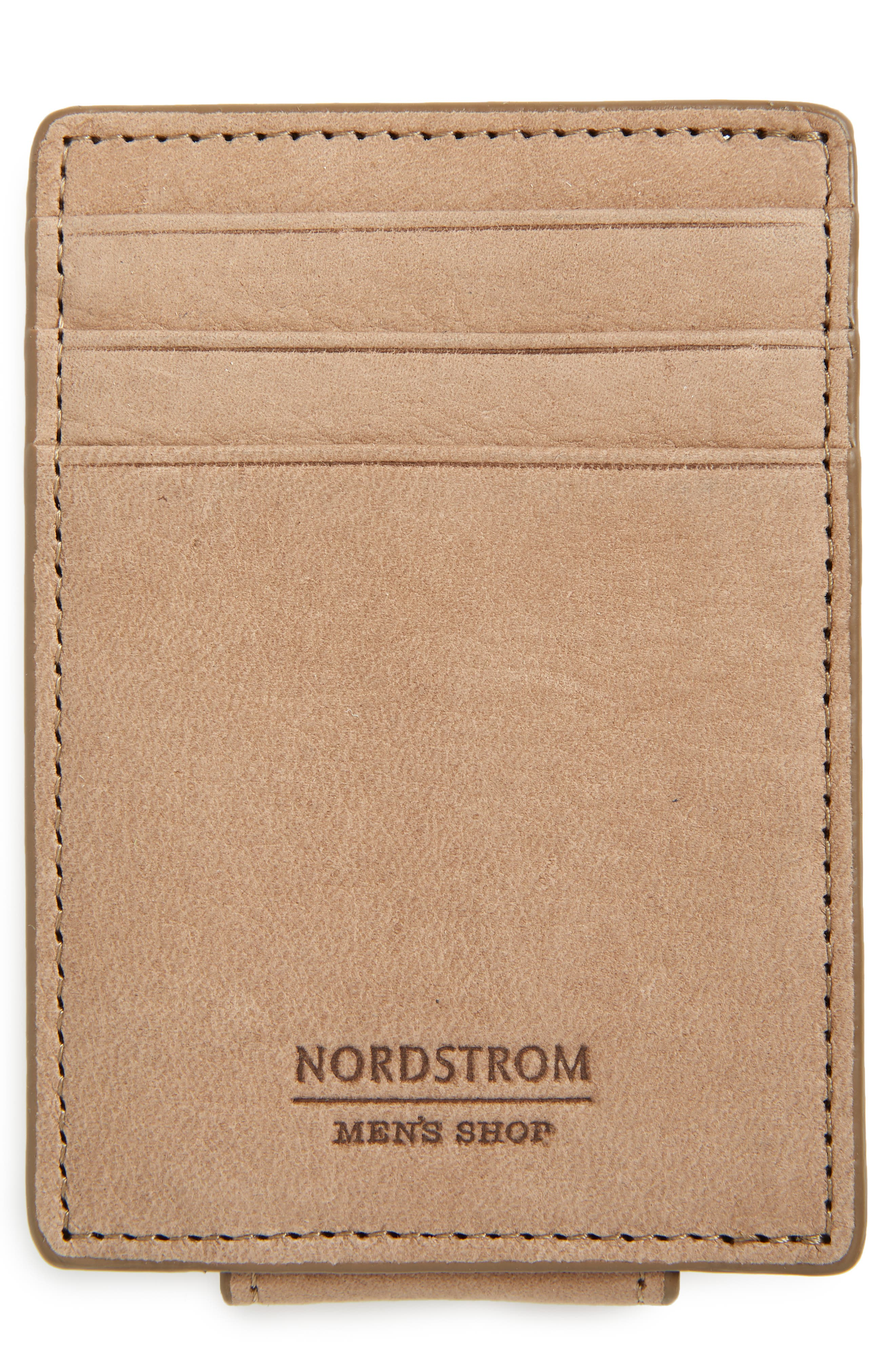 Upton Leather Money Clip Card Case,                         Main,                         color, TAN DUSK