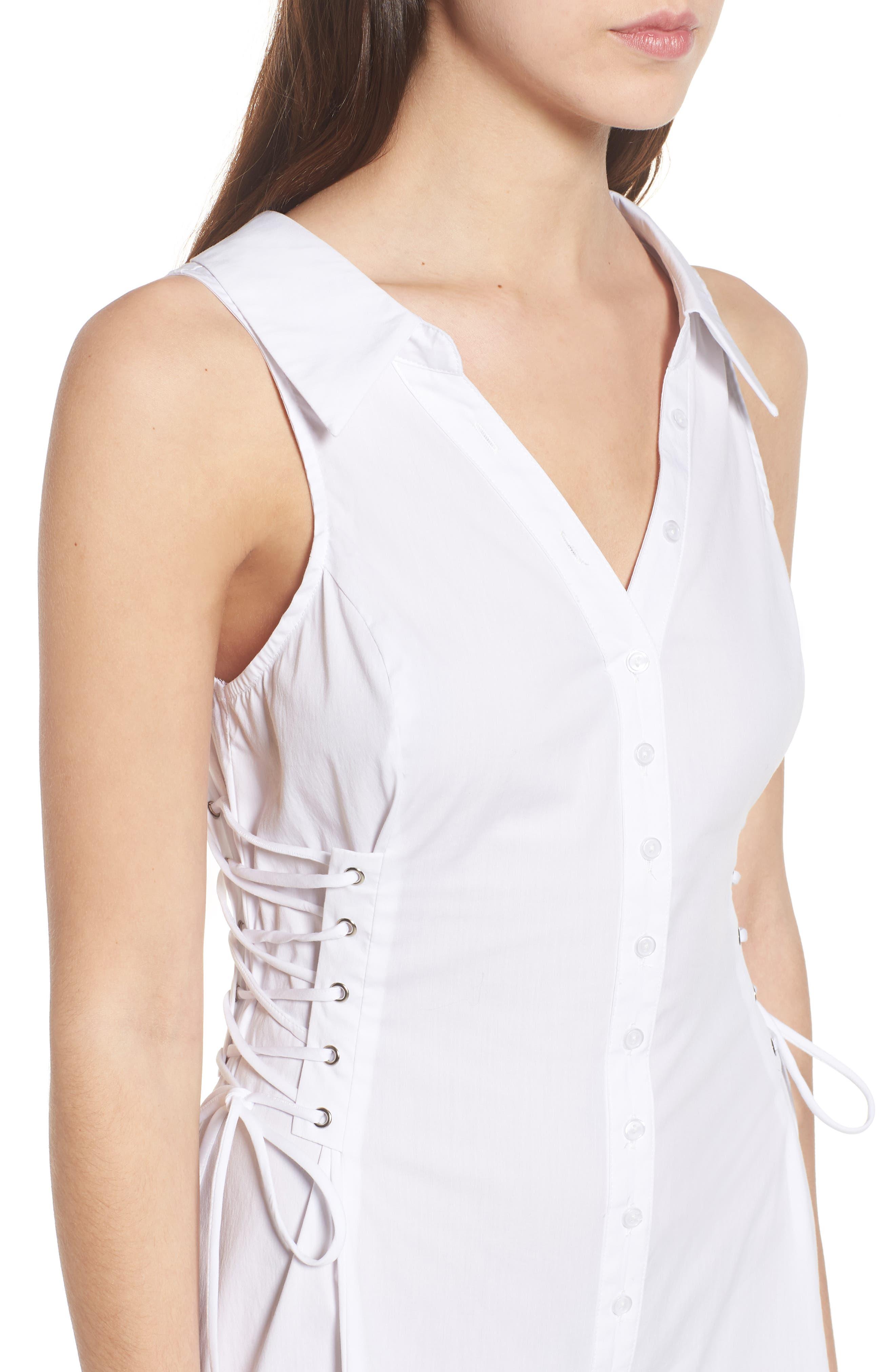 Sydney Lace Side Dress,                             Alternate thumbnail 4, color,