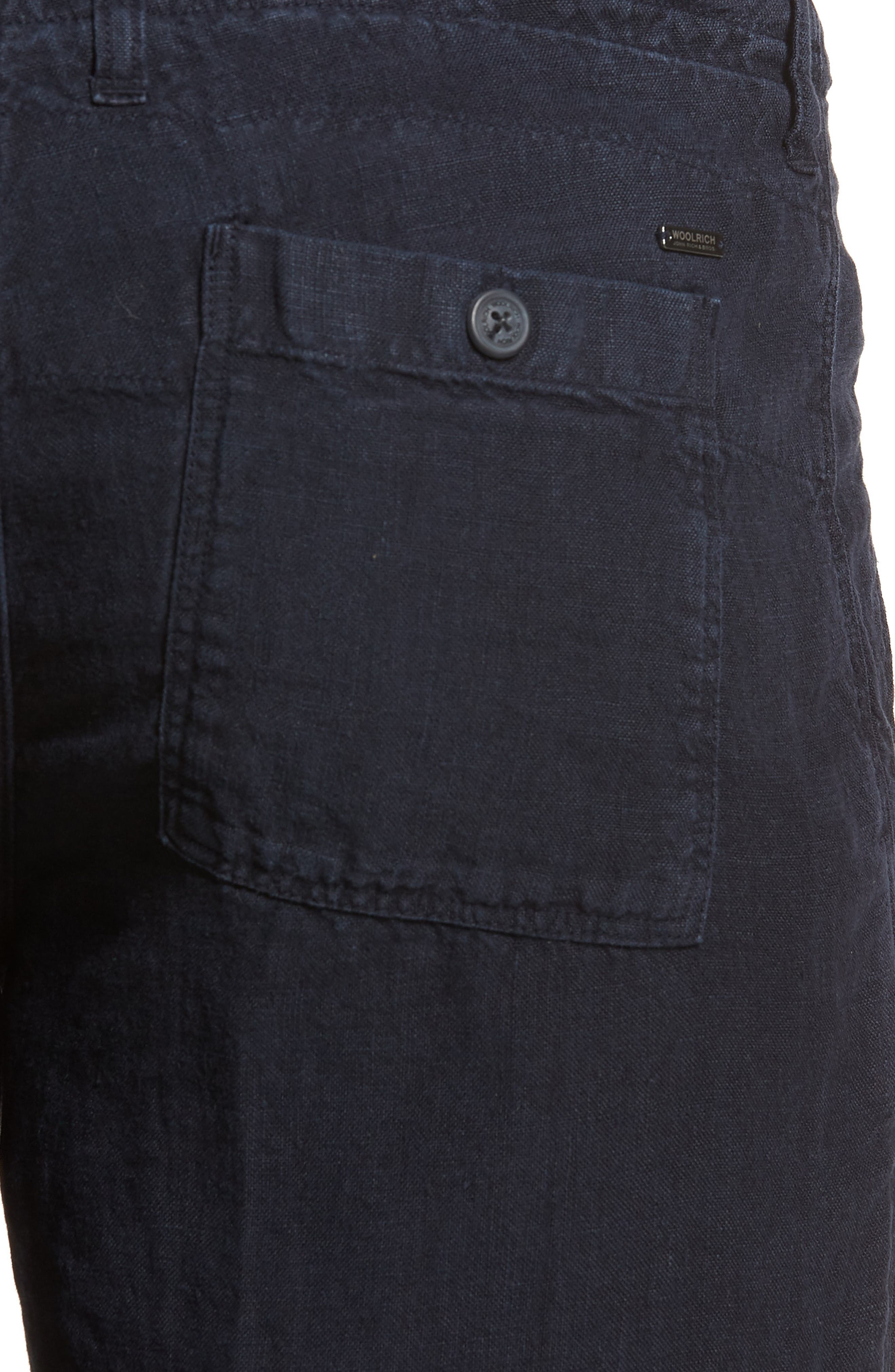 & Bros. Linen Shorts,                             Alternate thumbnail 4, color,                             400
