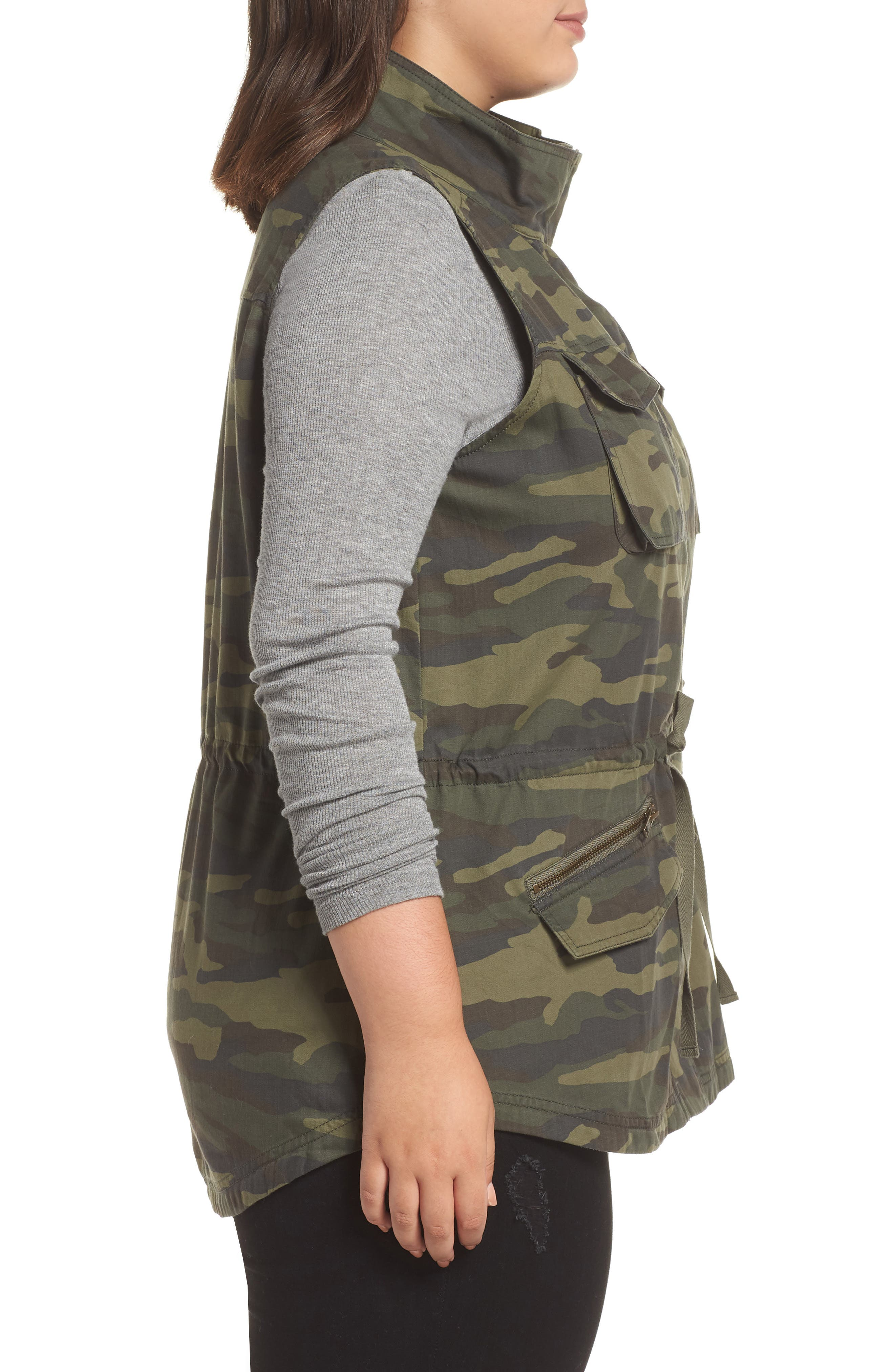 Utility Vest,                             Alternate thumbnail 3, color,                             OLIVE LG CAMO PRT