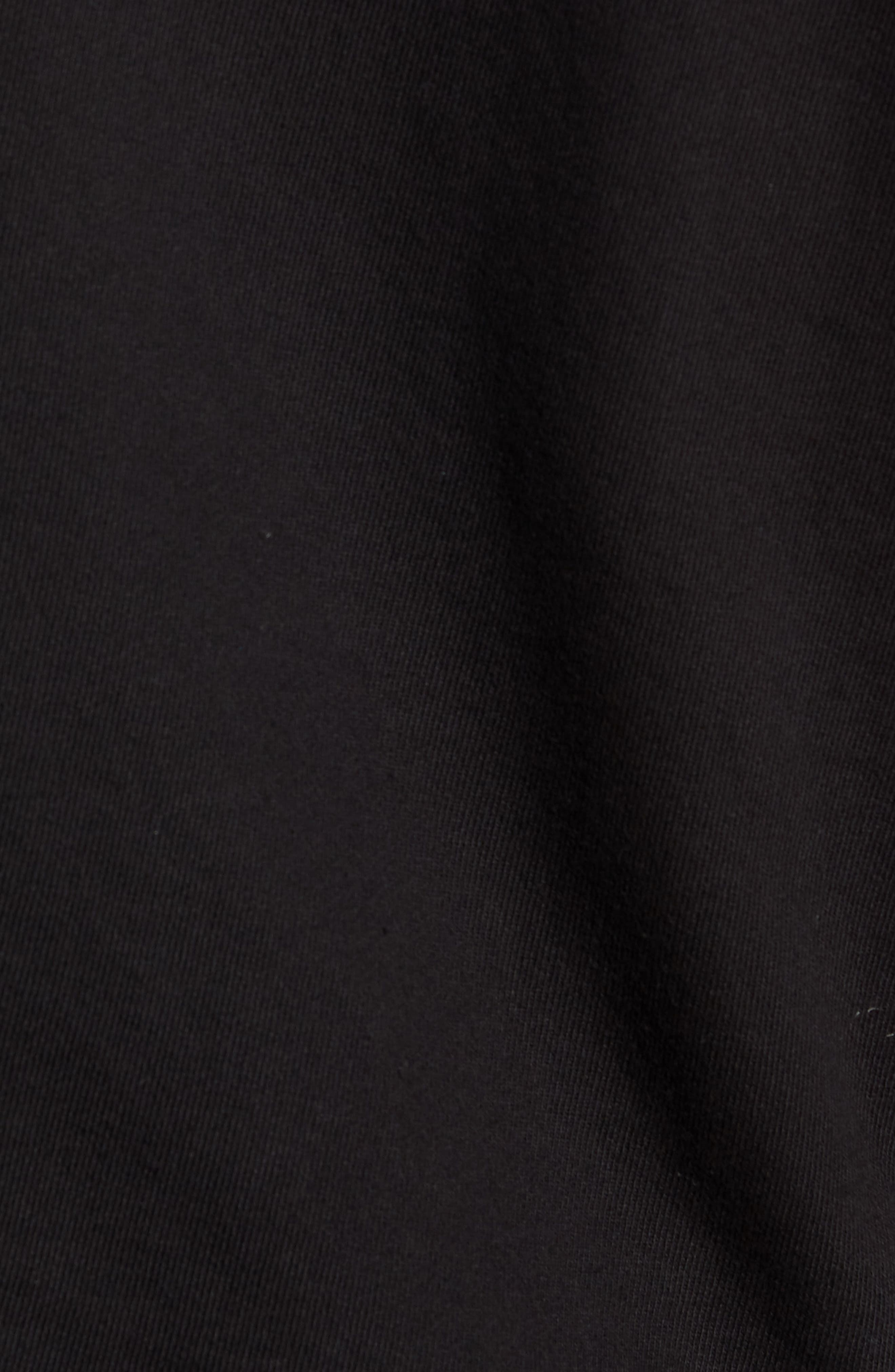 Factory Oversize Hoodie,                             Alternate thumbnail 5, color,                             BLACK