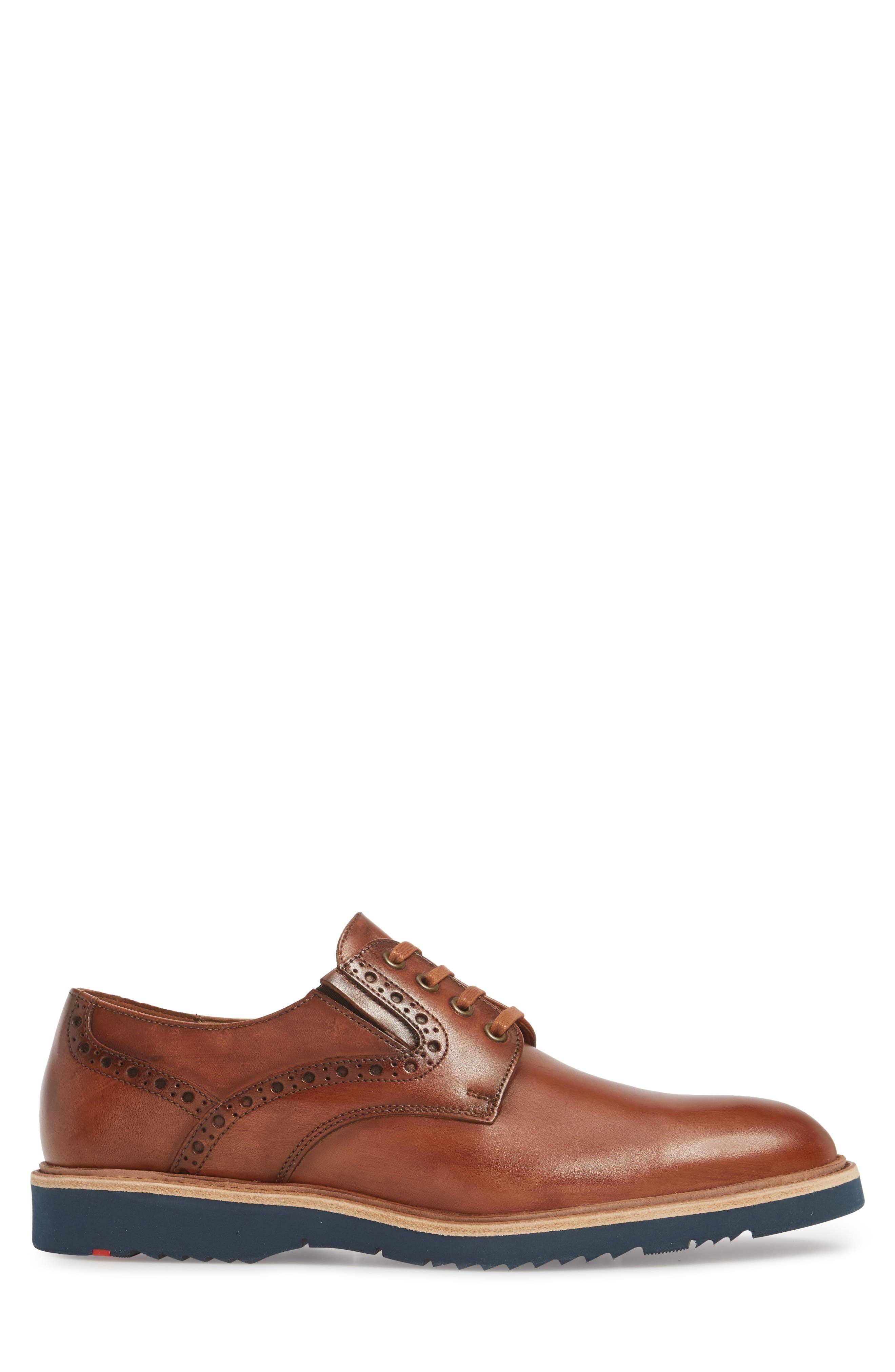Kandy Plain Toe Derby,                             Alternate thumbnail 3, color,                             COGNAC LEATHER