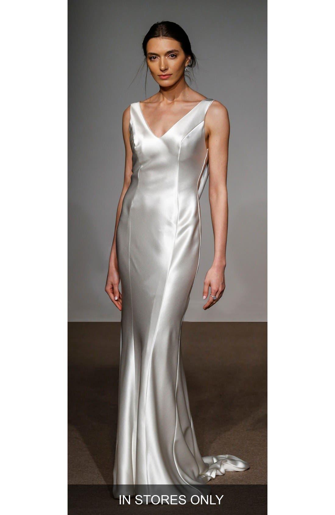Rita Silk Column Gown,                             Main thumbnail 1, color,                             900