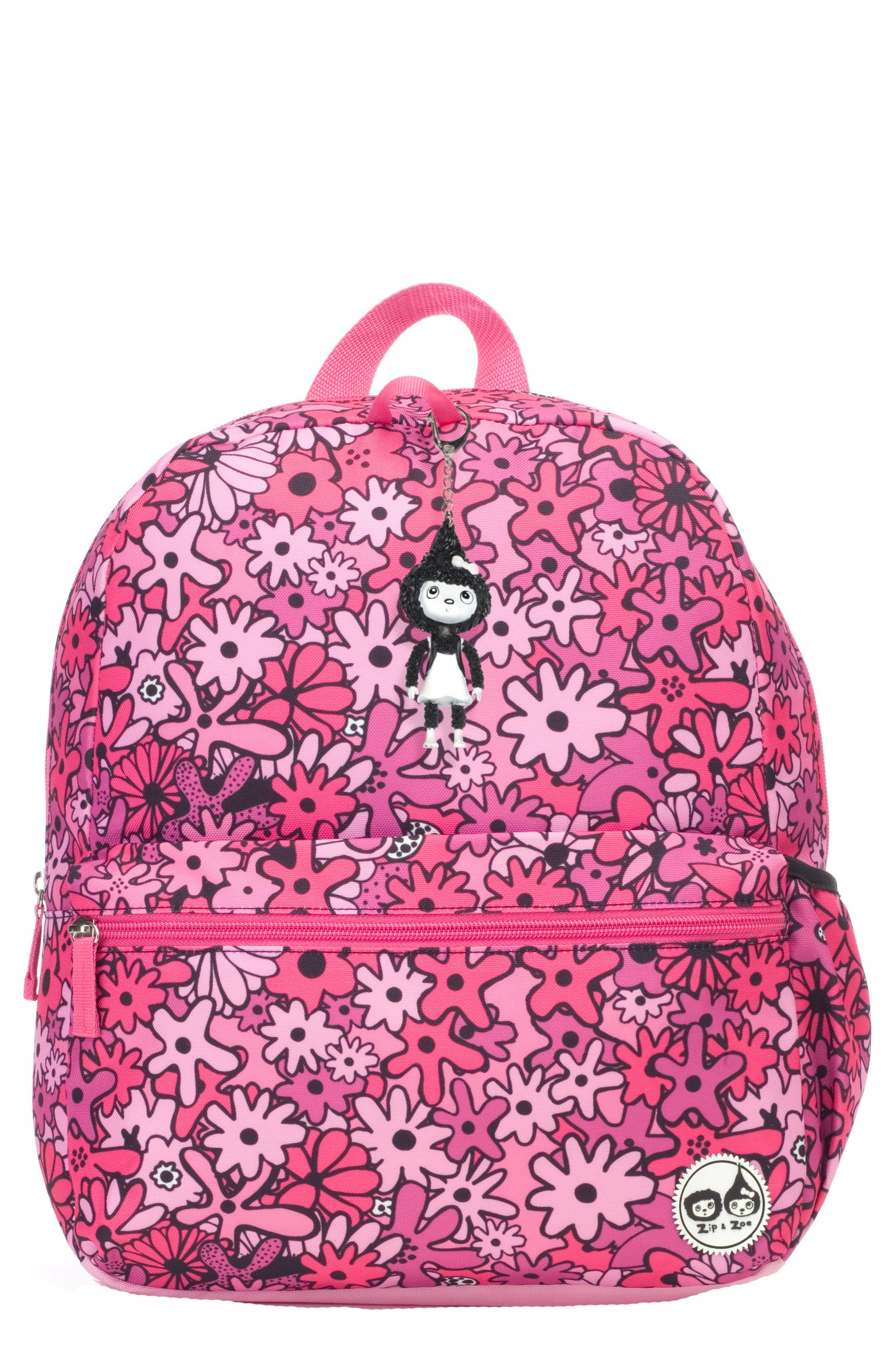 Zip & Zoe Floral Junior Backpack,                         Main,                         color, FLORAL PINK