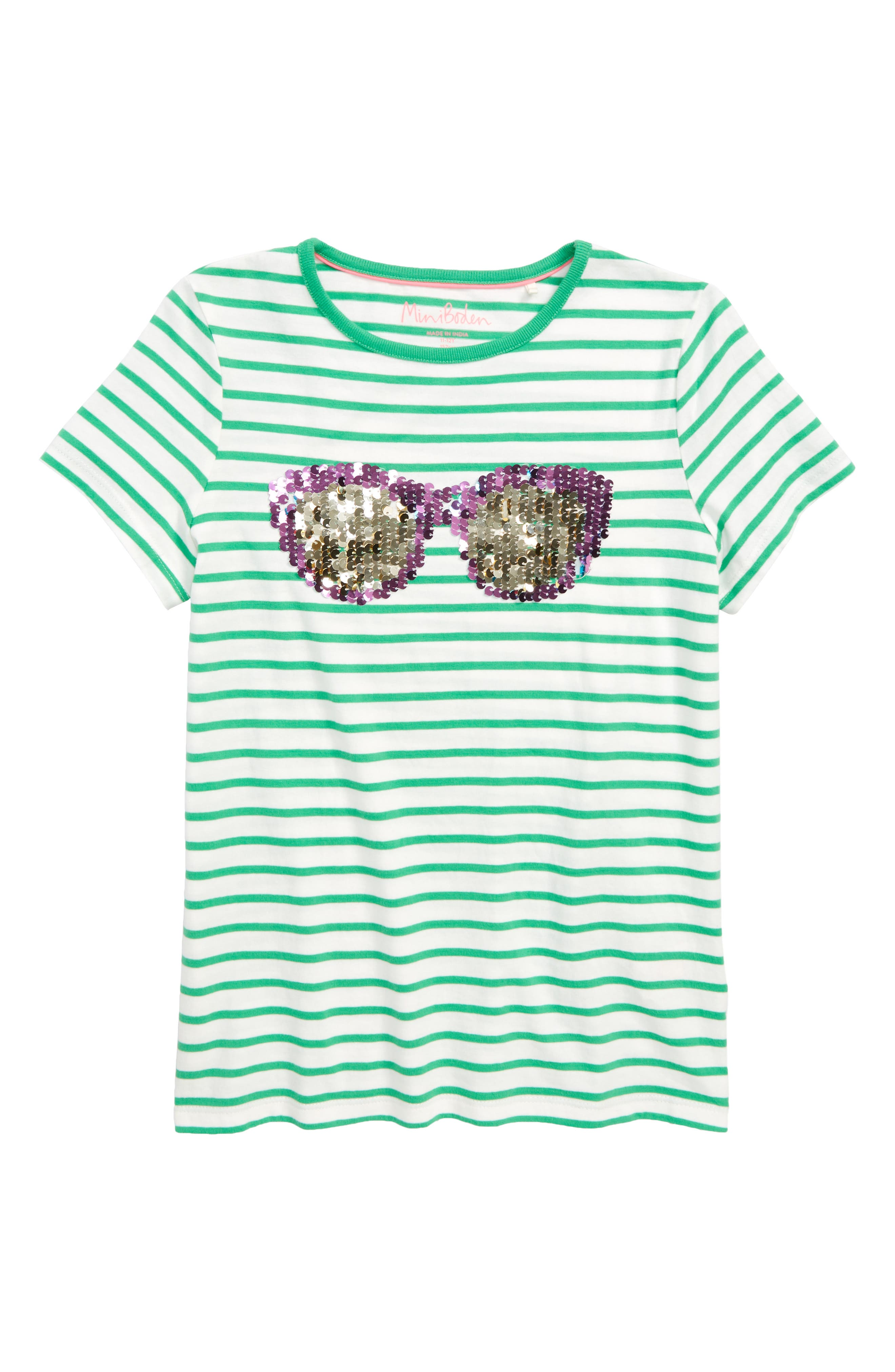 MINI BODEN,                             Sunny Sequin Tee,                             Alternate thumbnail 2, color,                             315