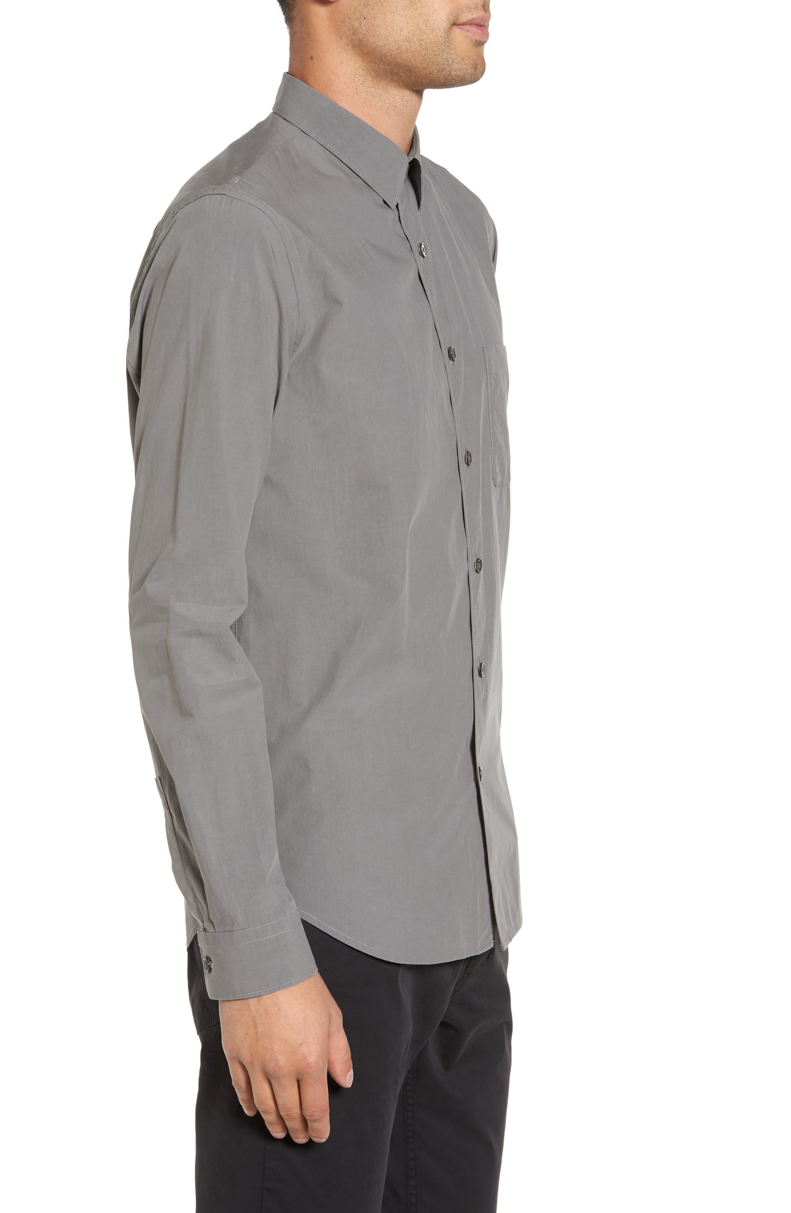 Rammy Trim Fit Solid Sport Shirt,                             Alternate thumbnail 3, color,                             020
