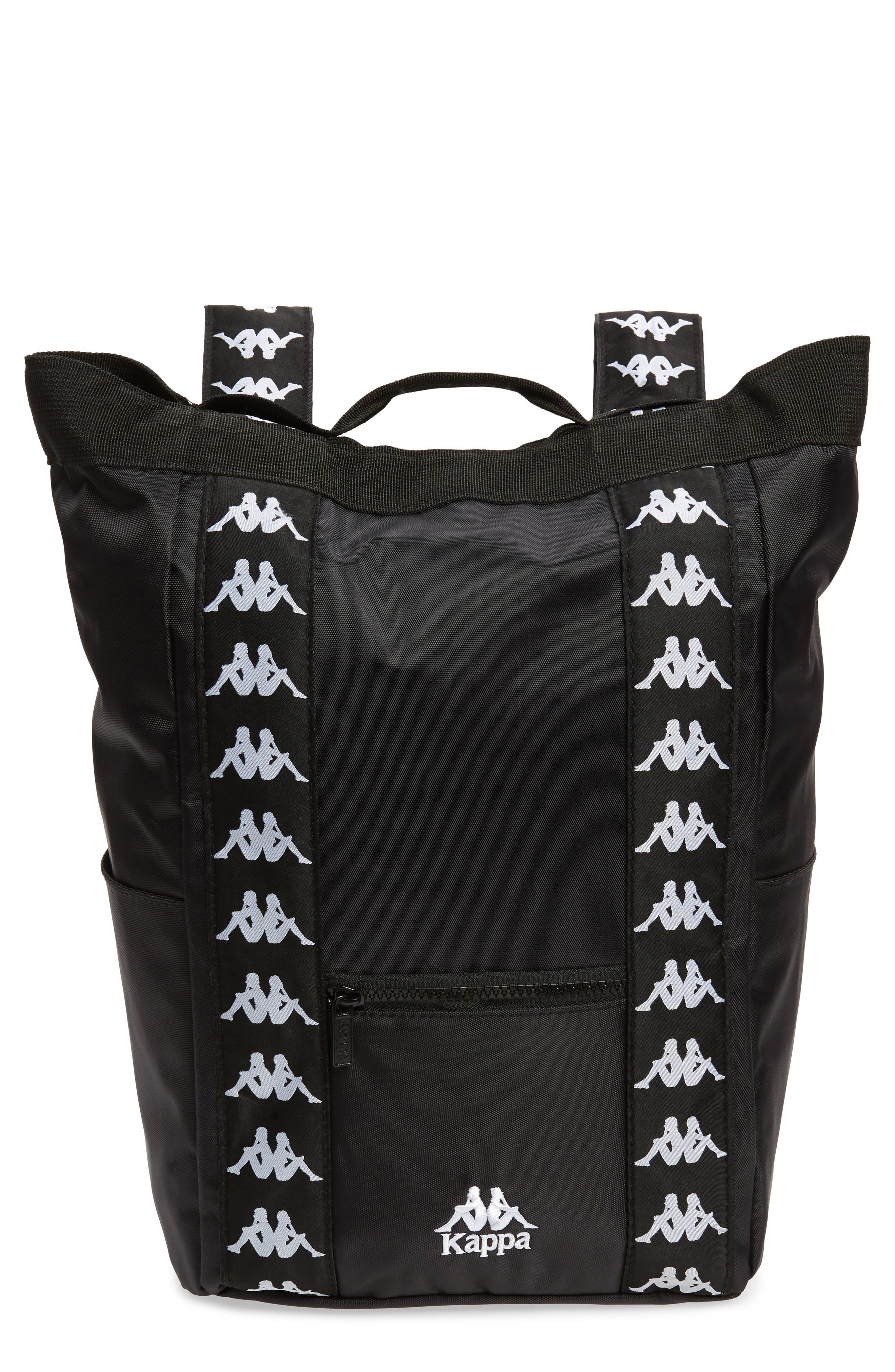 Medium Athletic Backpack,                         Main,                         color, BLACK-WHITE
